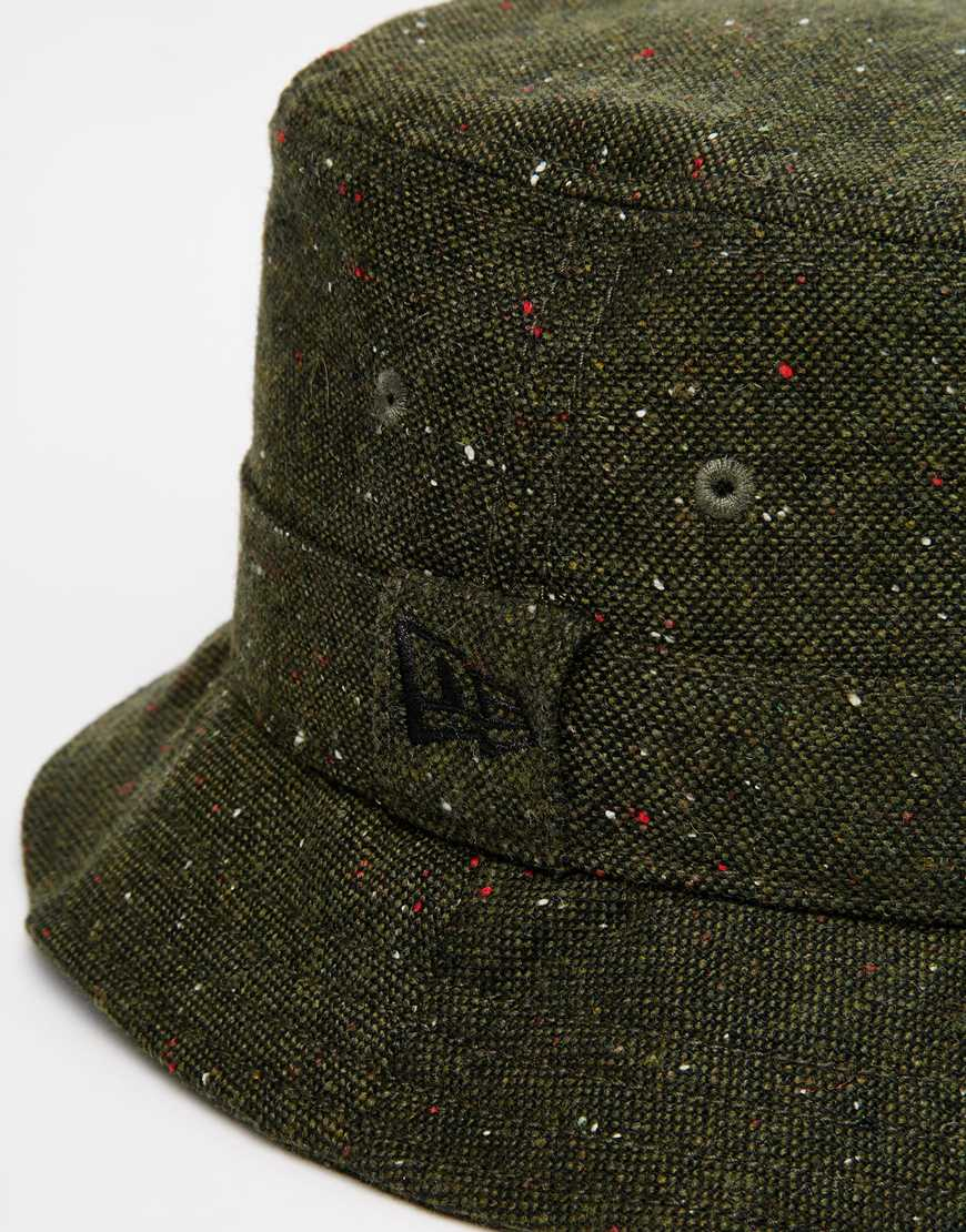 Lyst Ktz Tweed Bucket Hat In Green For Men