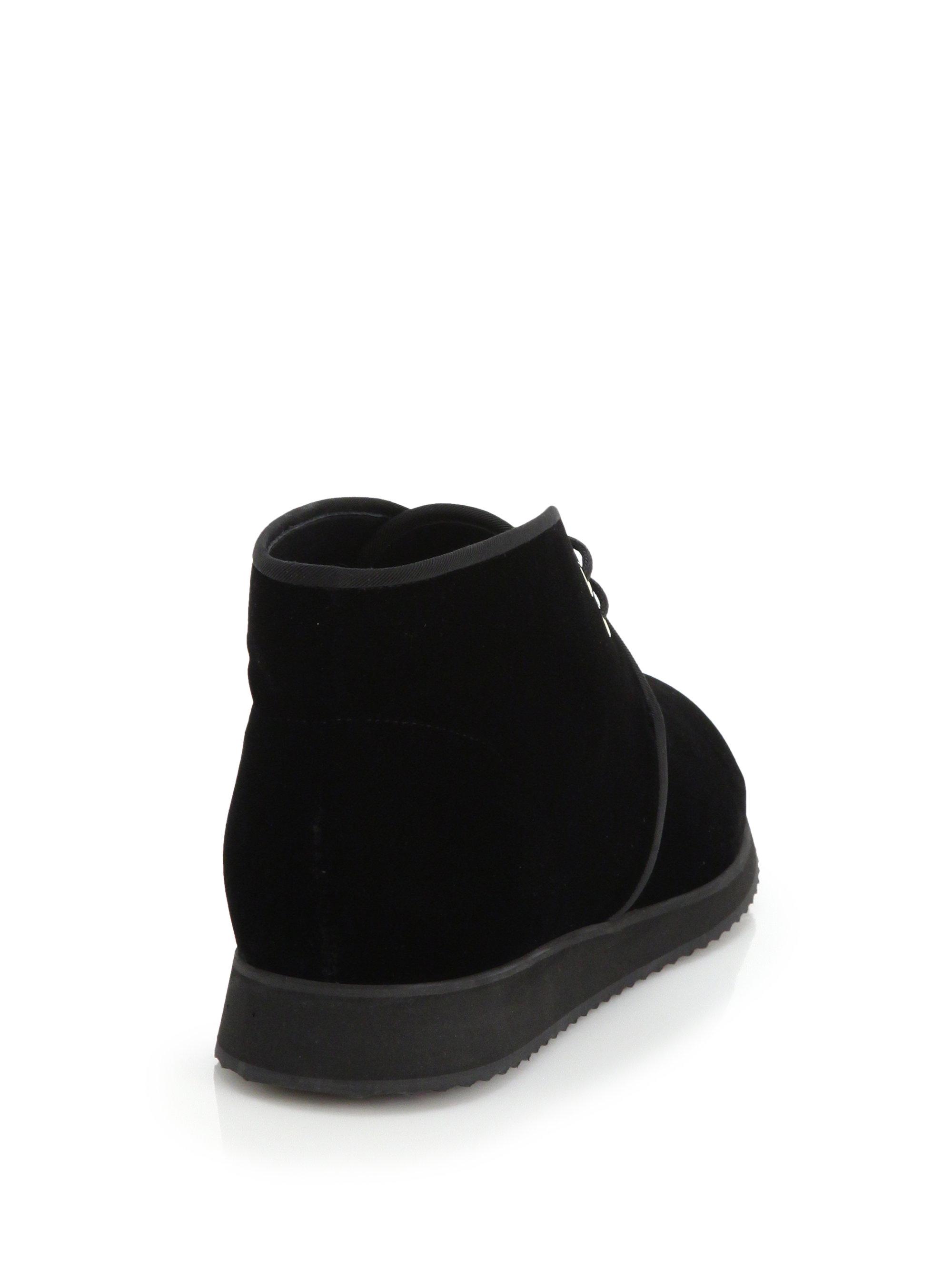 5f38f493eef0d Giuseppe Zanotti Velvet Chukka Boots in Black for Men - Lyst