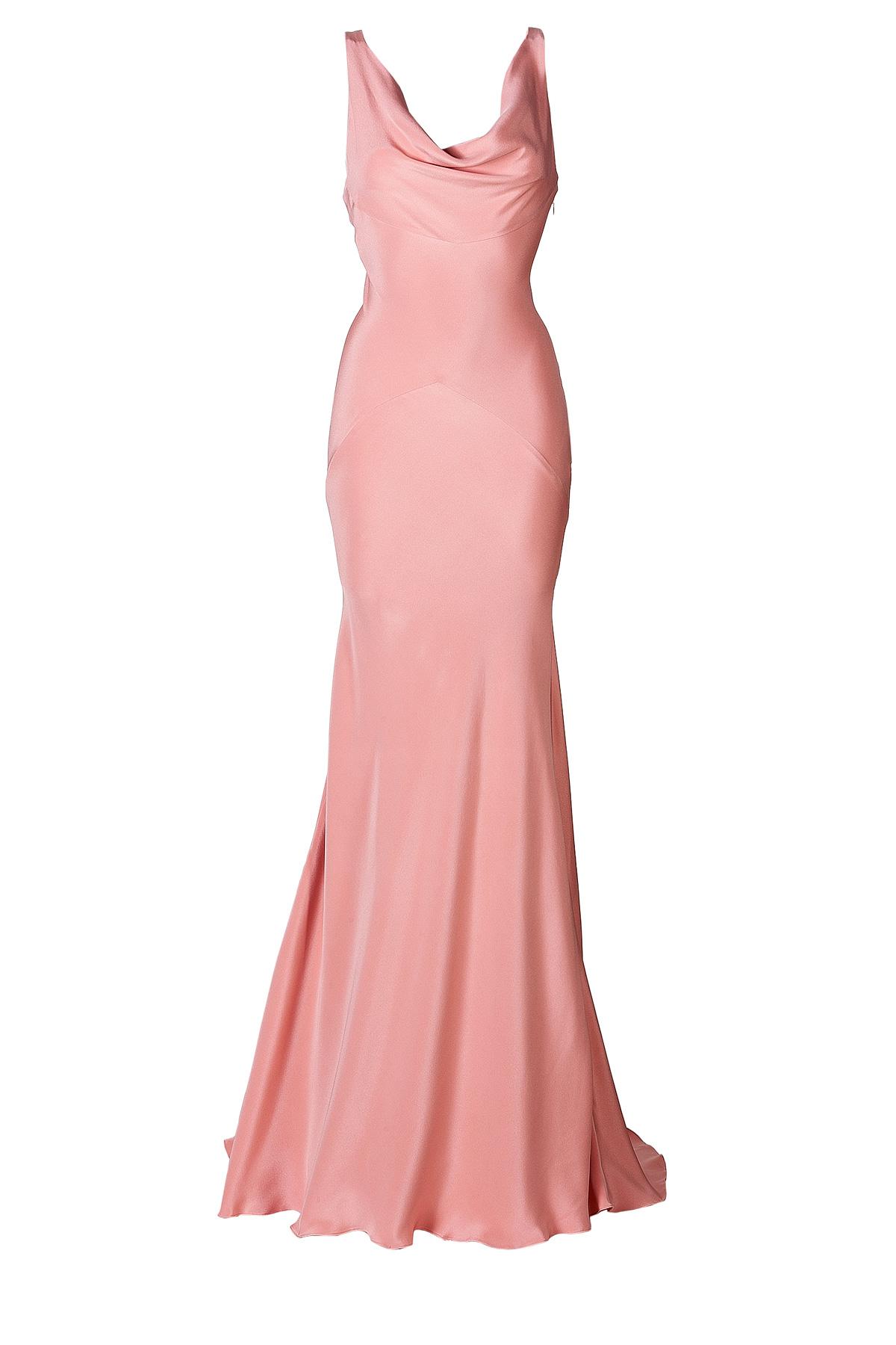 Lyst - Rochas Silk Evening Gown in Pink