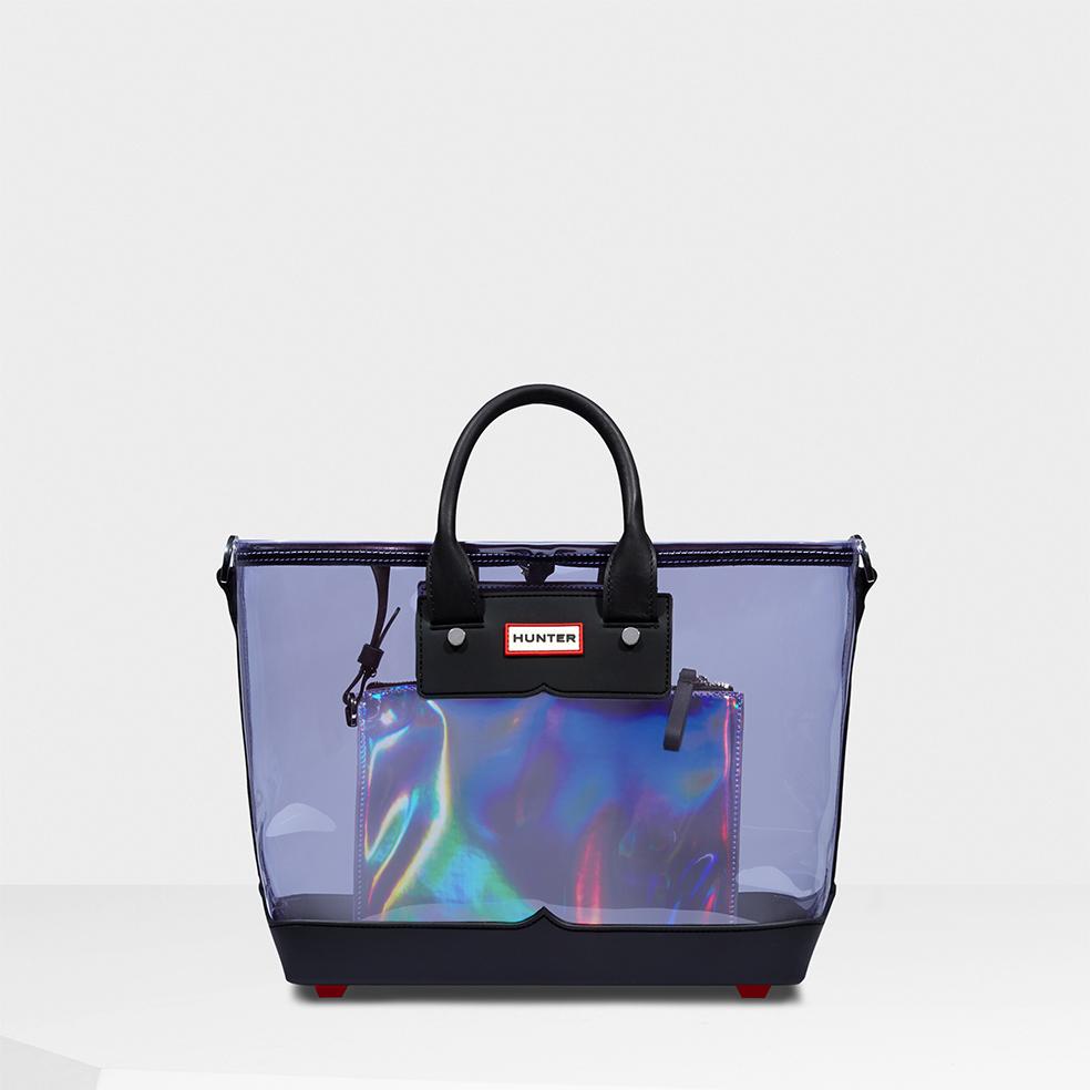 lyst hunter original clear midi tote bag in purple. Black Bedroom Furniture Sets. Home Design Ideas