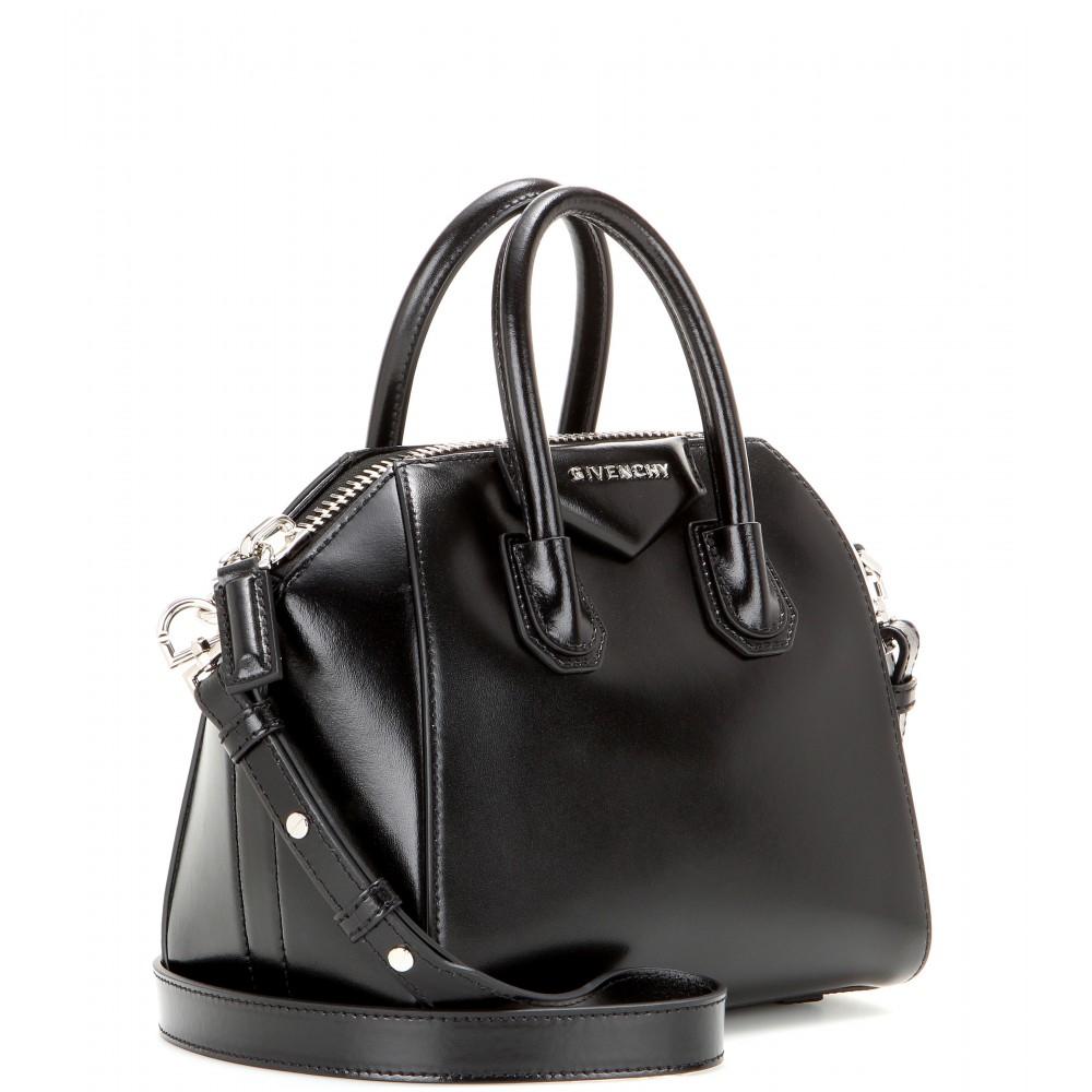 24aa268919 Lyst - Givenchy Antigona Mini Leather Shoulder Bag in Black