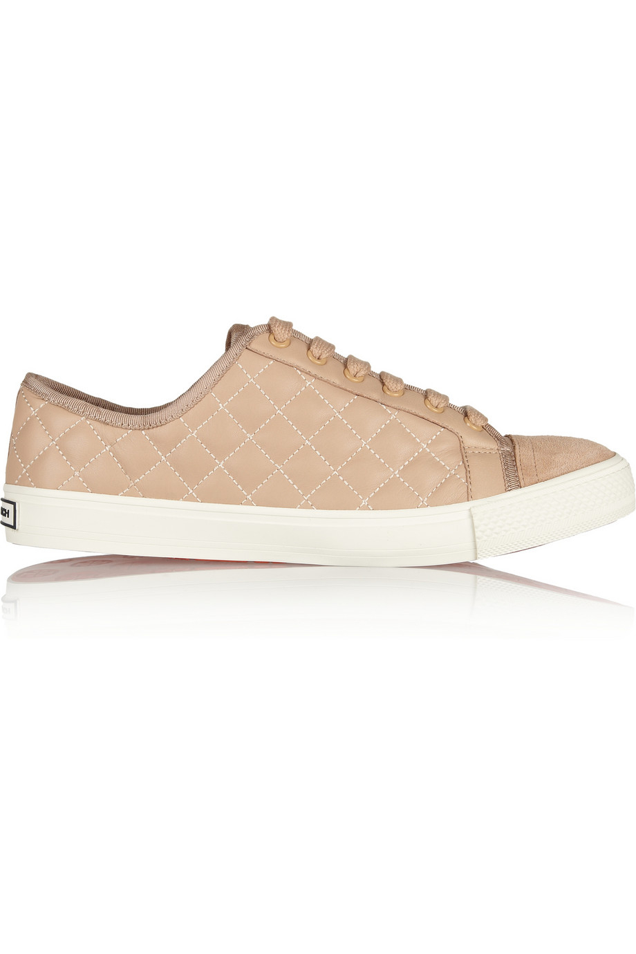 f61f426d8f0c3f Lyst - Tory Burch Caspe Quilted Leather Sneakers in Pink