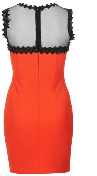 Topshop Daisy Bodycon Dress By Wyldr In Orange Lyst