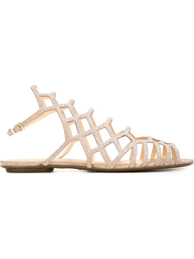 e3e3c4929a3 Lyst schutz strappy flat sandals in natural jpg 800x1067 Schutz flat shoes