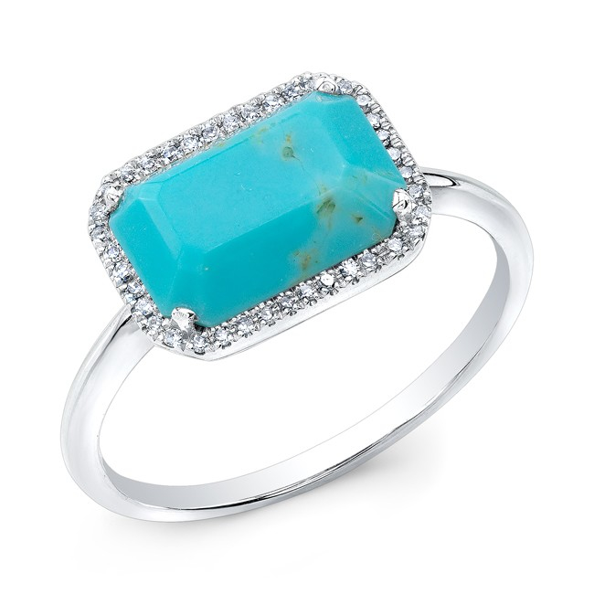 sisteron 14kt white gold turquoise chic ring