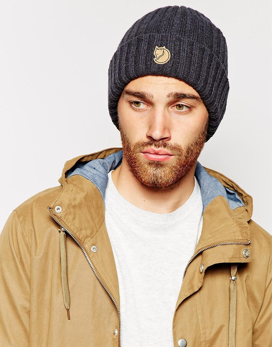 b495e7b61fb6a Fjallraven Byron Beanie Hat in Gray for Men - Lyst