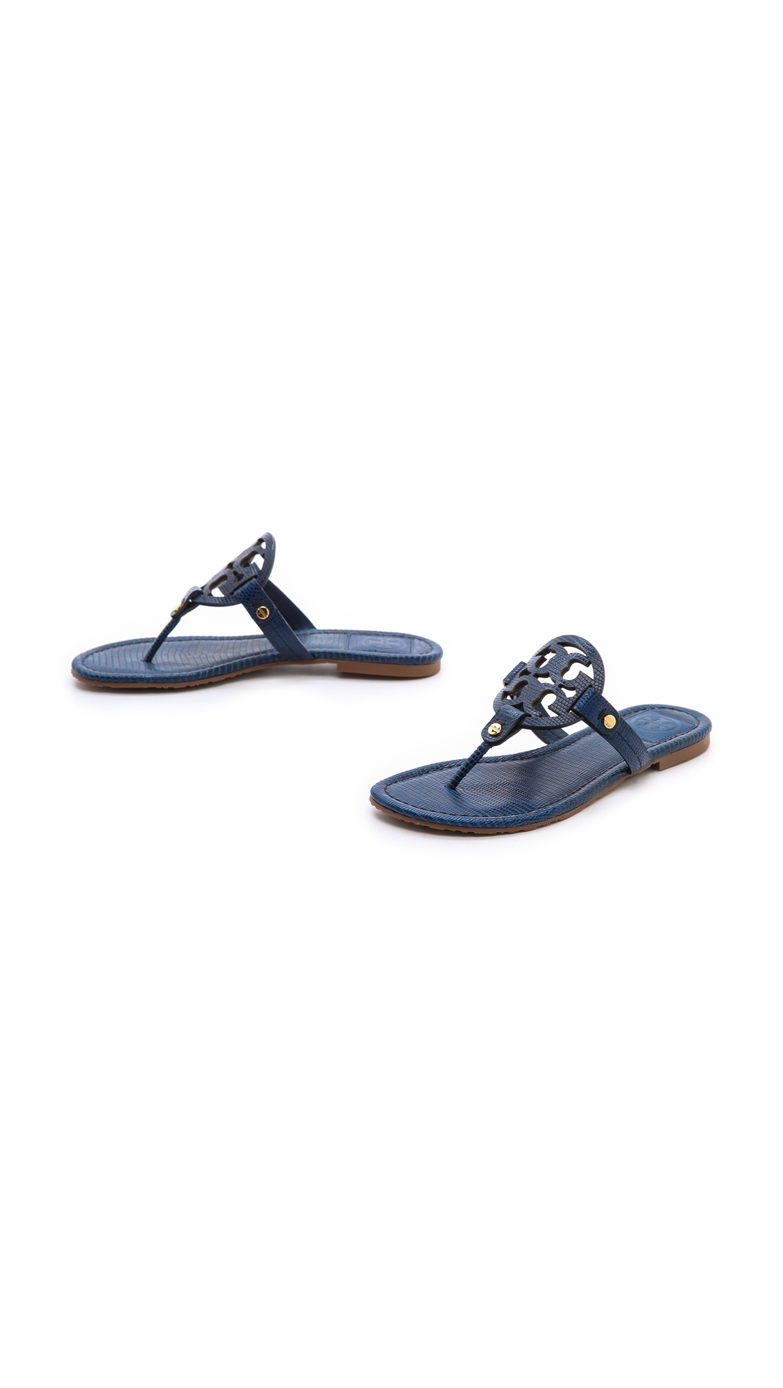 67f53a08f Tory Burch Miller Tejus Print Sandals Newport Navy in Blue - Lyst