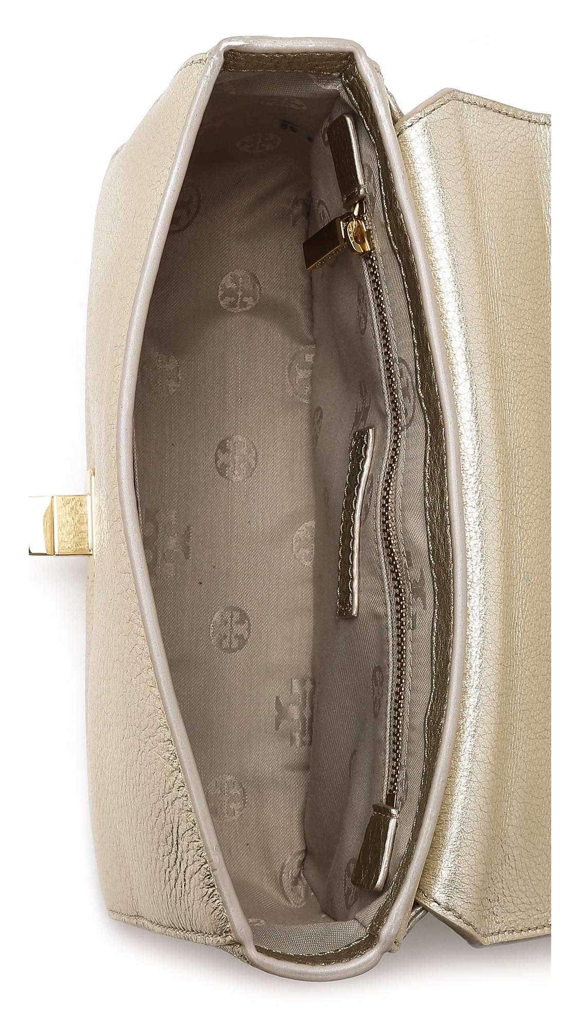 29f2691ce4d3 Tory Burch Mercer Adjustable Shoulder Bag in Metallic - Lyst