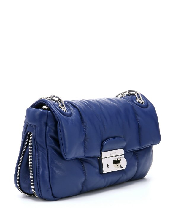 prada square quilt nylon shoulder bag