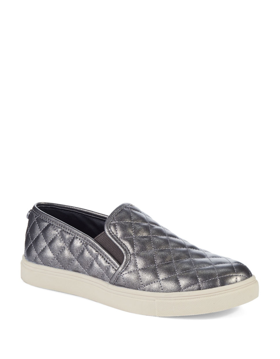 Steve Madden Ecentrcq Quilted Faux Leather Slip Ons Lyst