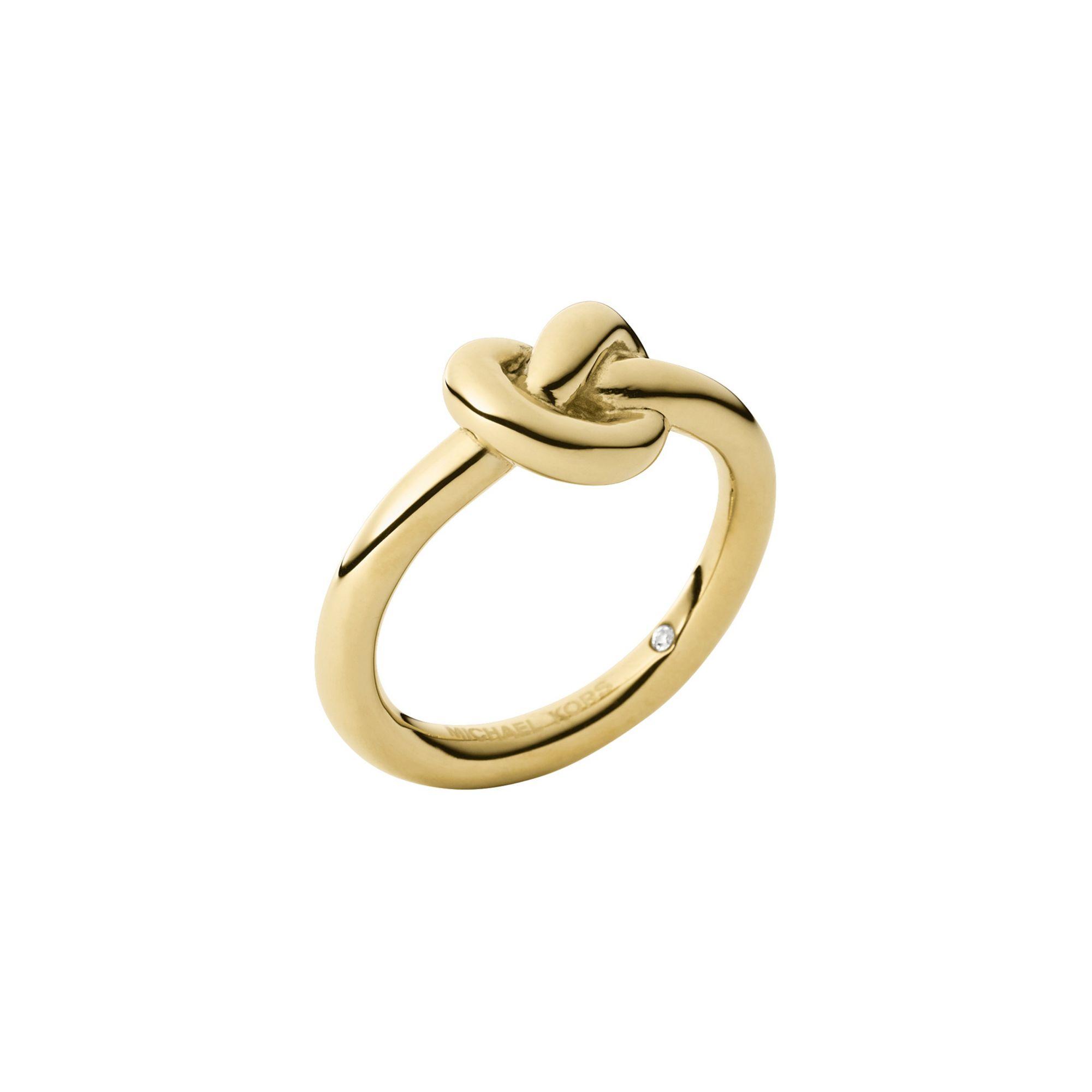 michael kors gold tone knot ring in metallic lyst. Black Bedroom Furniture Sets. Home Design Ideas