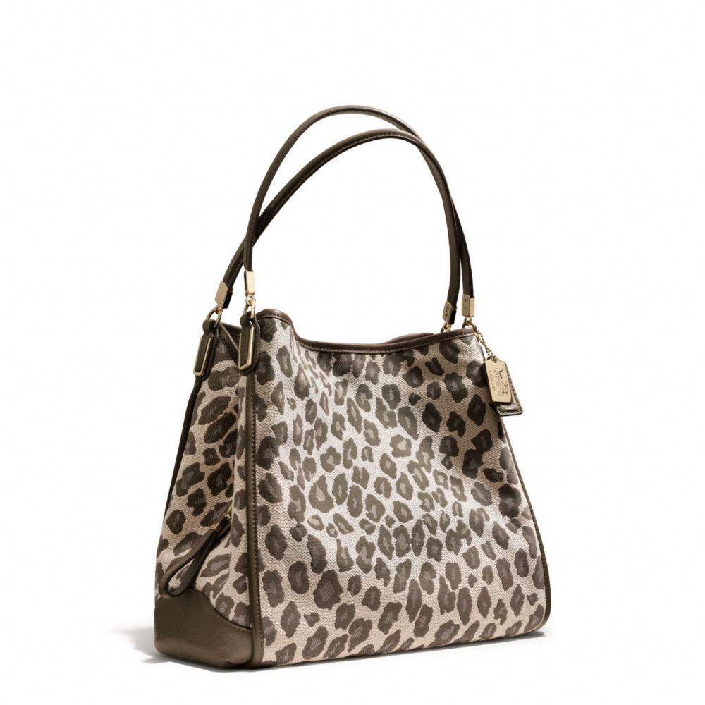 Madison Phoebe Shoulder Bag In Ocelot Print Fabric 80