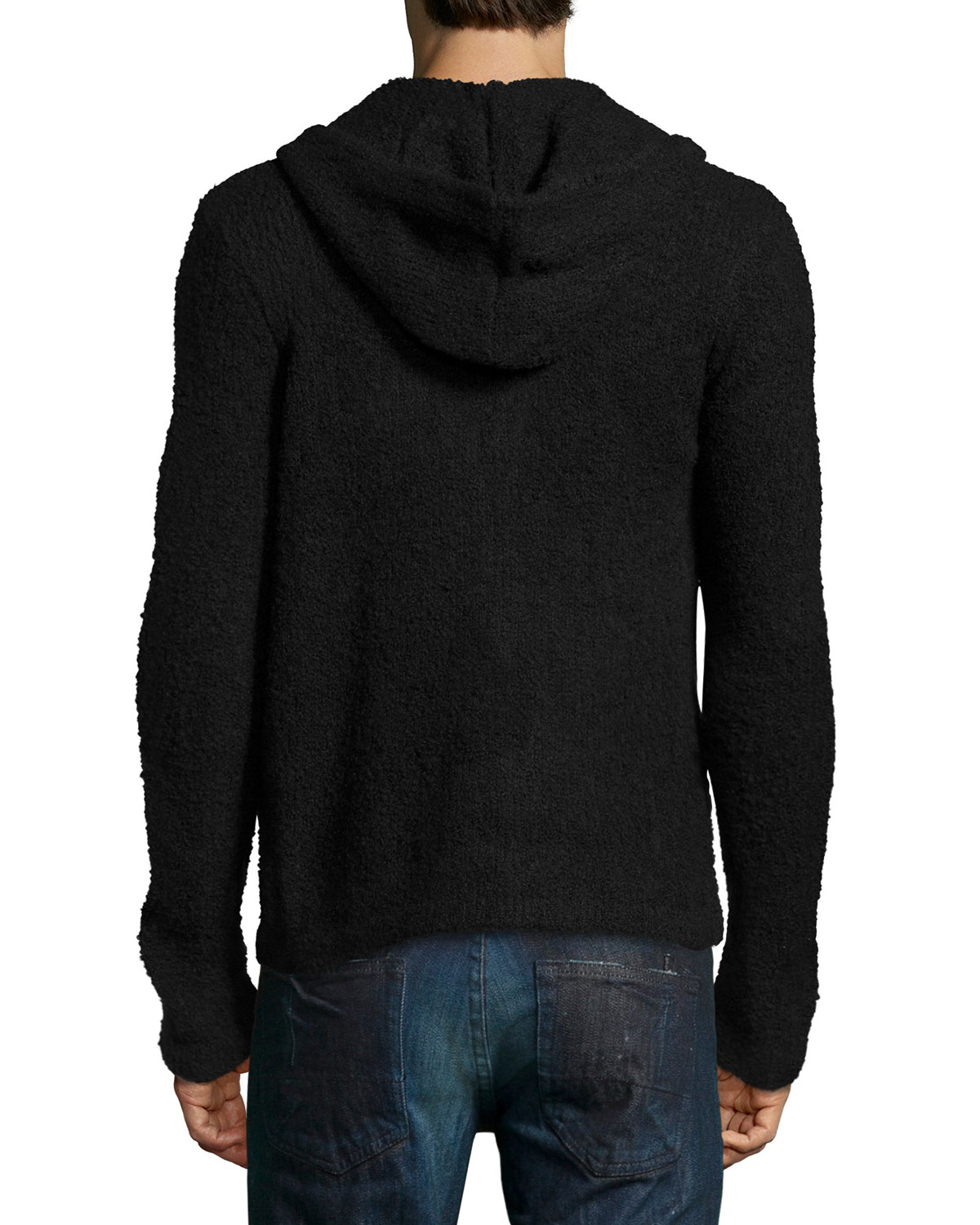 Joes jeans Wool-Blend Knit Zip Hoodie in Black for Men Lyst