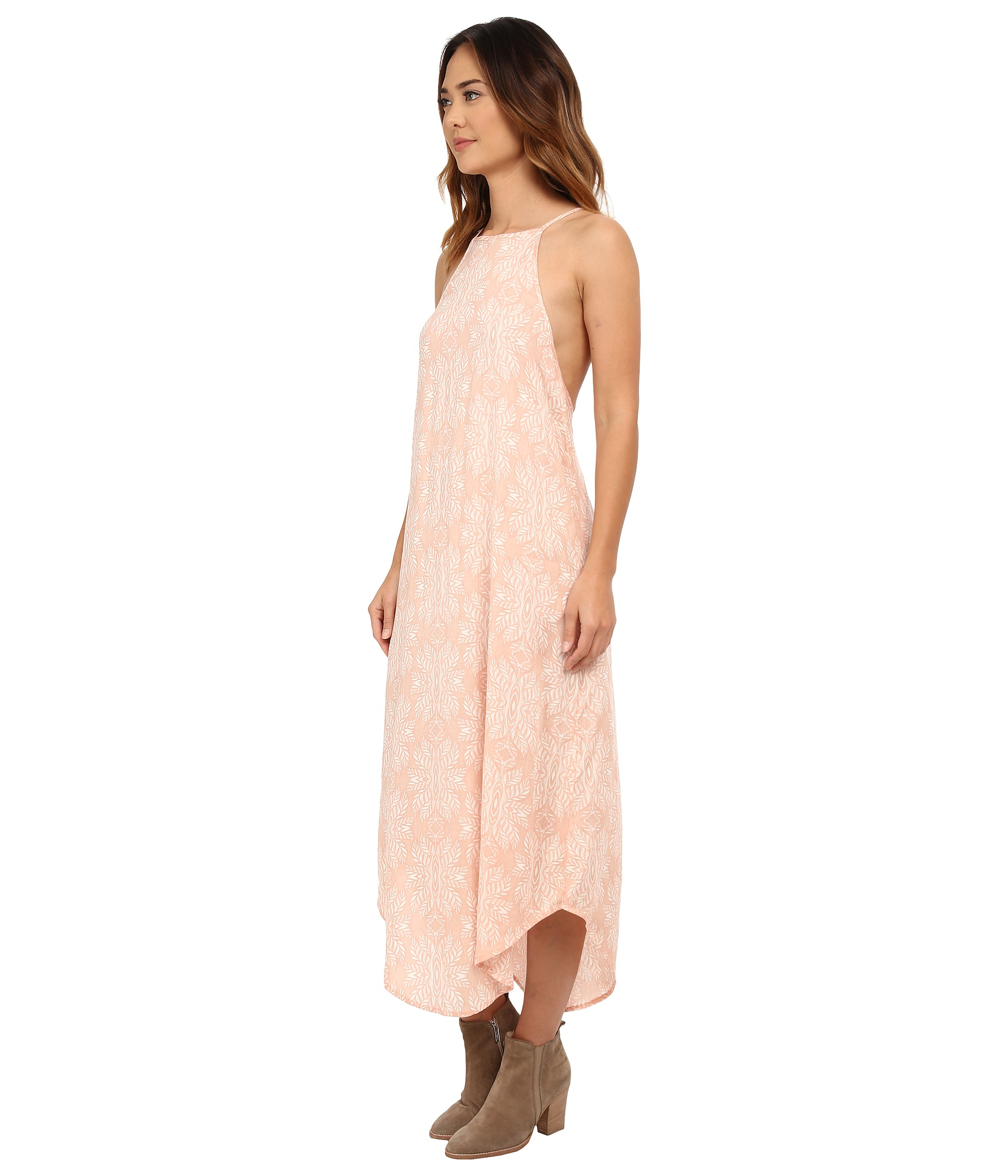 Rip curl Woodland Maxi Dress in Pink | Lyst