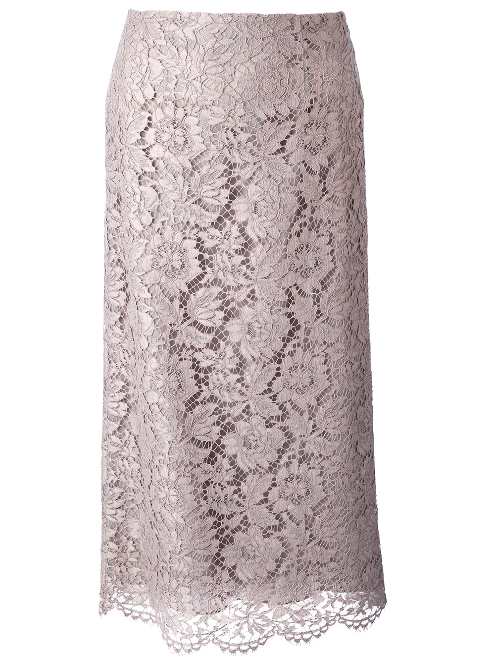 Valentino Lace Skirt in Gray | Lyst