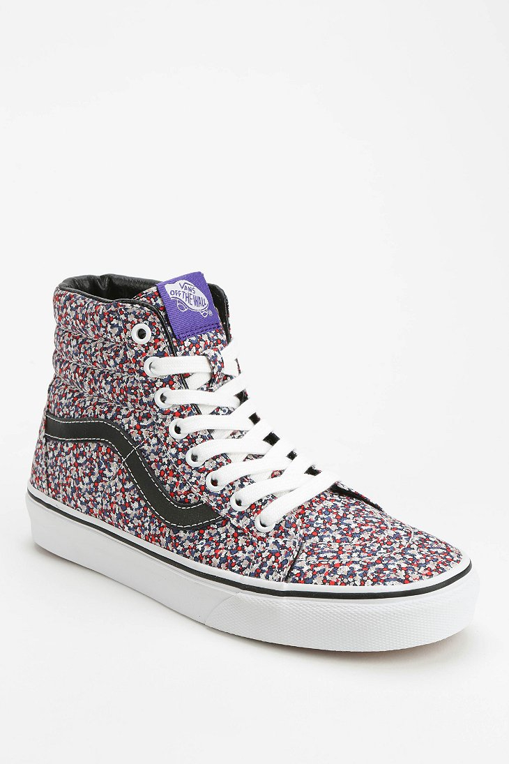 vans sk8 hi micro floral women 39 s sneaker in pink lyst. Black Bedroom Furniture Sets. Home Design Ideas