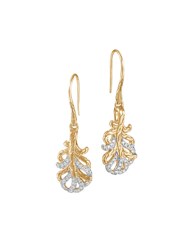 John hardy classic chain small 18k diamond feather for John hardy jewelry earrings