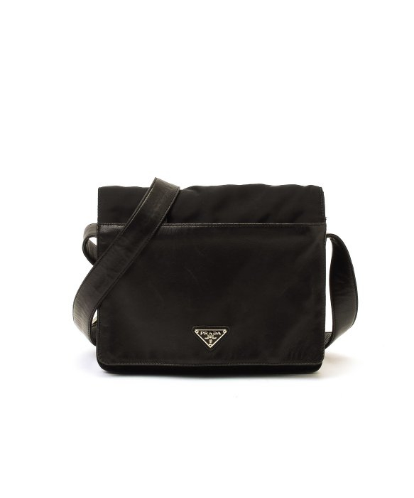 discount prada wallet - Prada Preowned Black Nylon Shoulder Bag in Black | Lyst