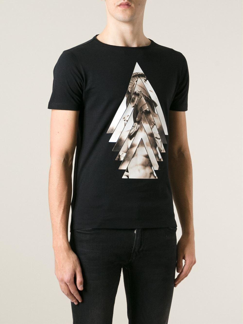 Lyst Emporio Armani 39 David 39 Print T Shirt In Black For Men
