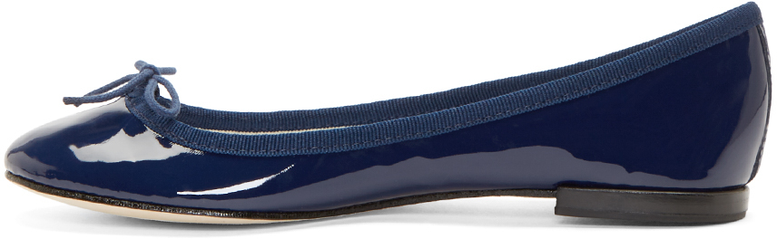 a31e793e2e0 Repetto Navy Patent Cinderella Ballet Flats in Blue - Lyst