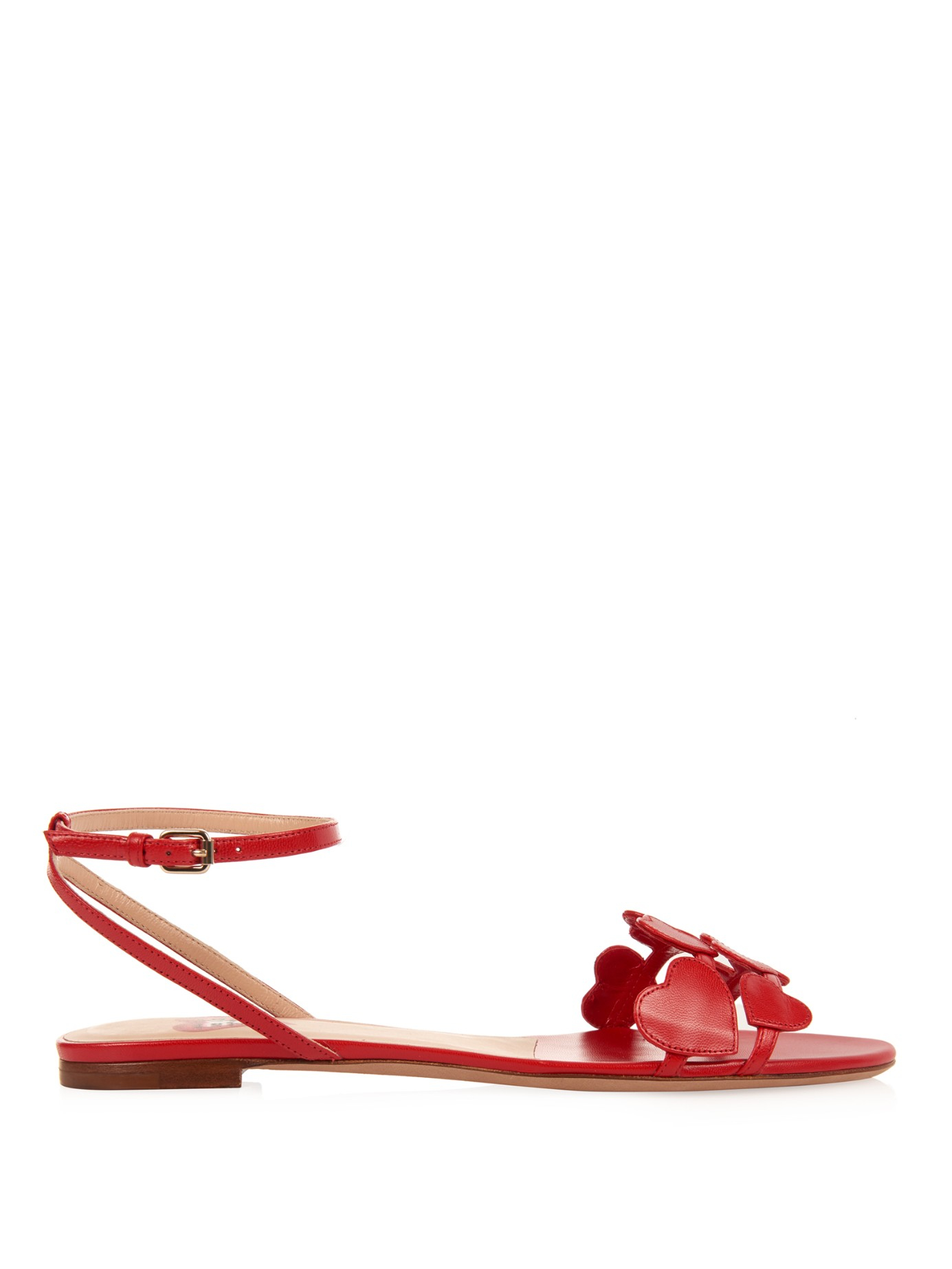 Womens Flats Valentino Lamour Sandals Red Flats valentino Under Discount