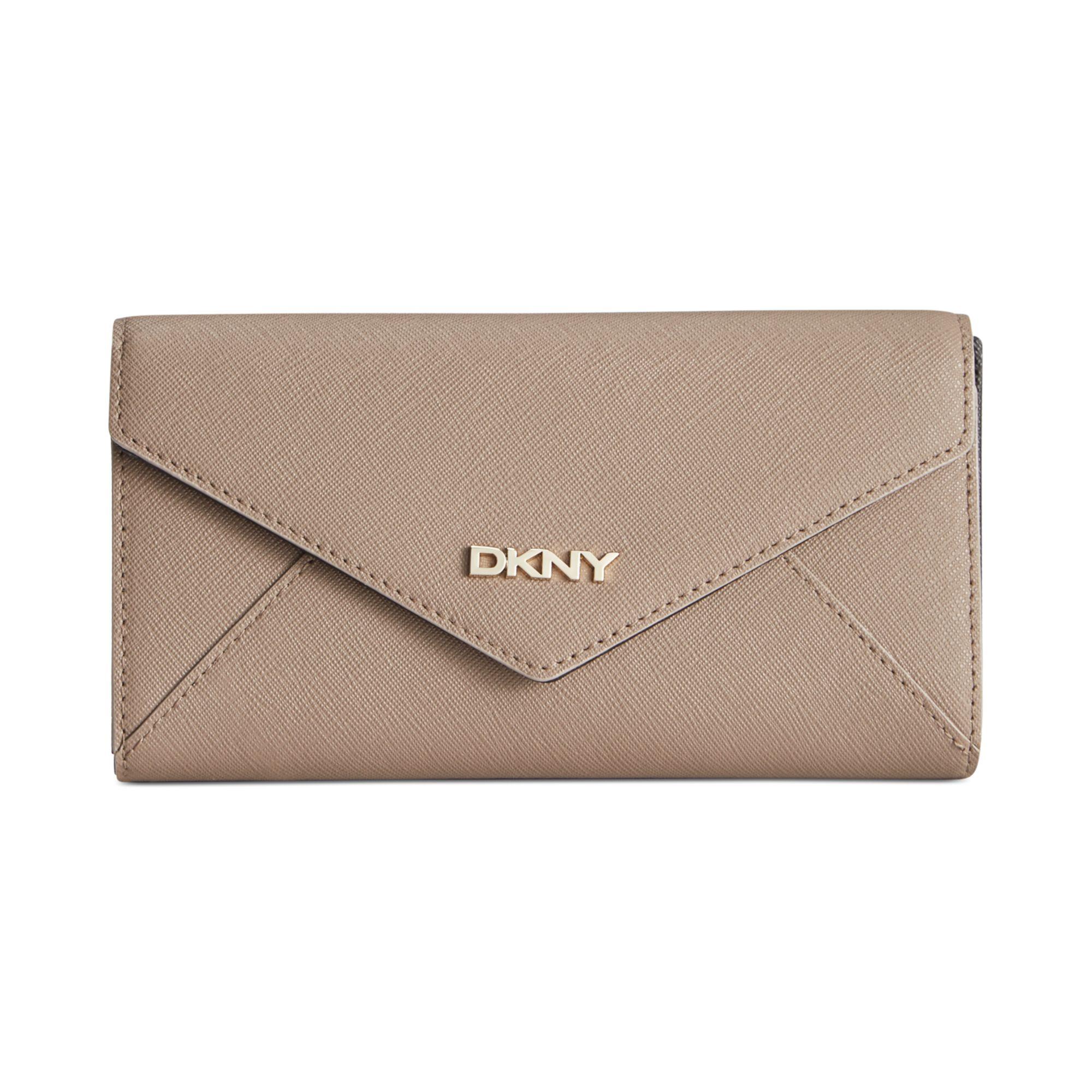 DKNY Retreat Black Leather Zip Around Ladies Wallet |Dkny Wallet