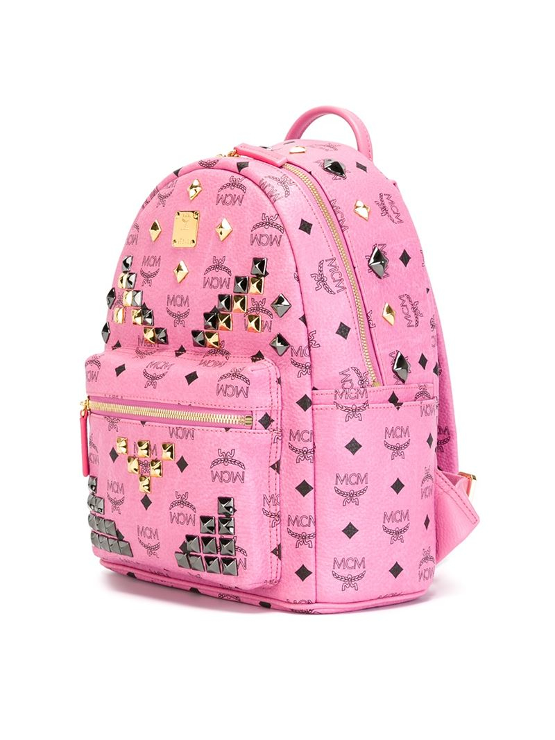 Mcm Small 'stark' Backpack in Pink   Lyst