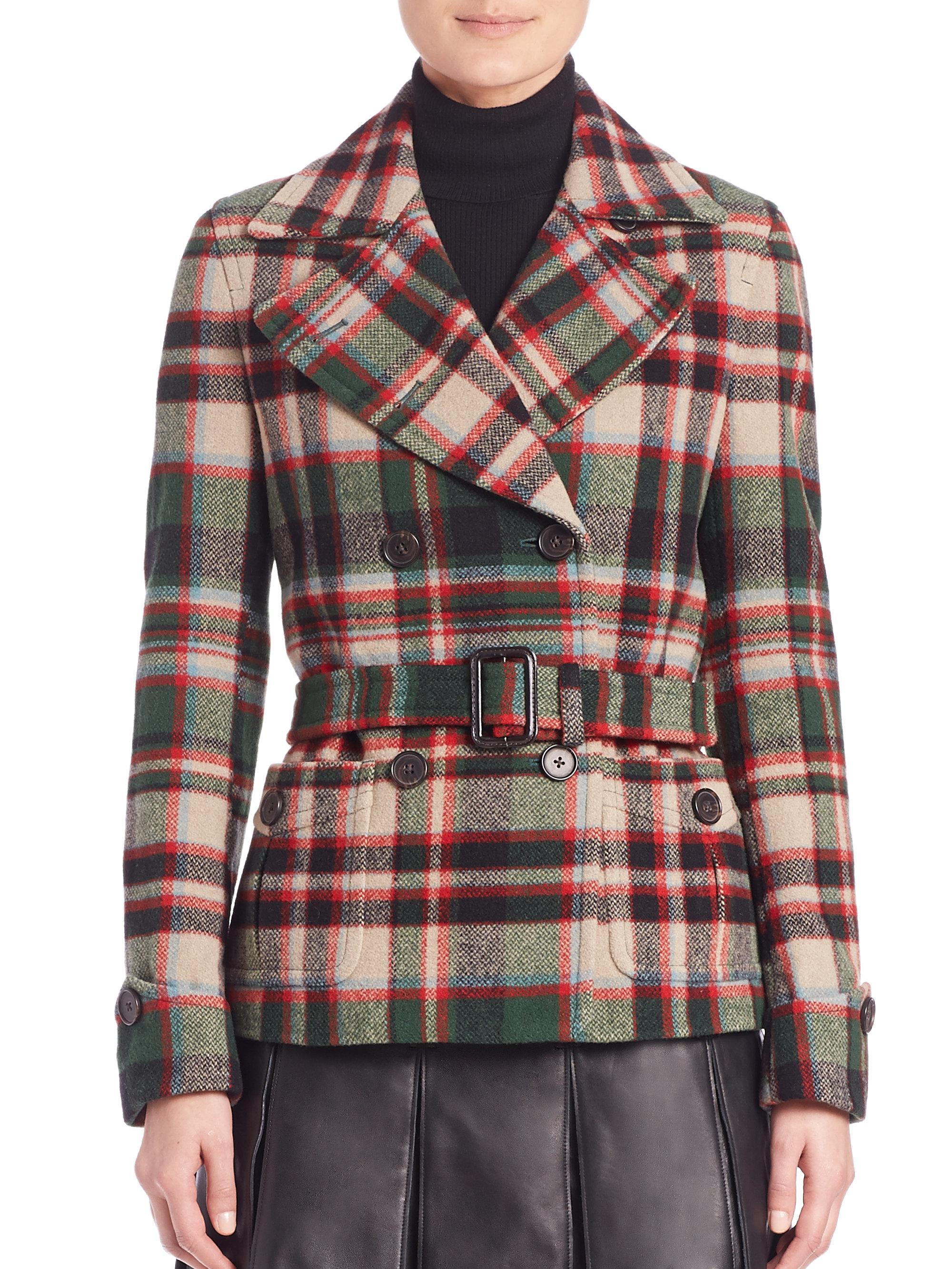 Ralph lauren red and green coat