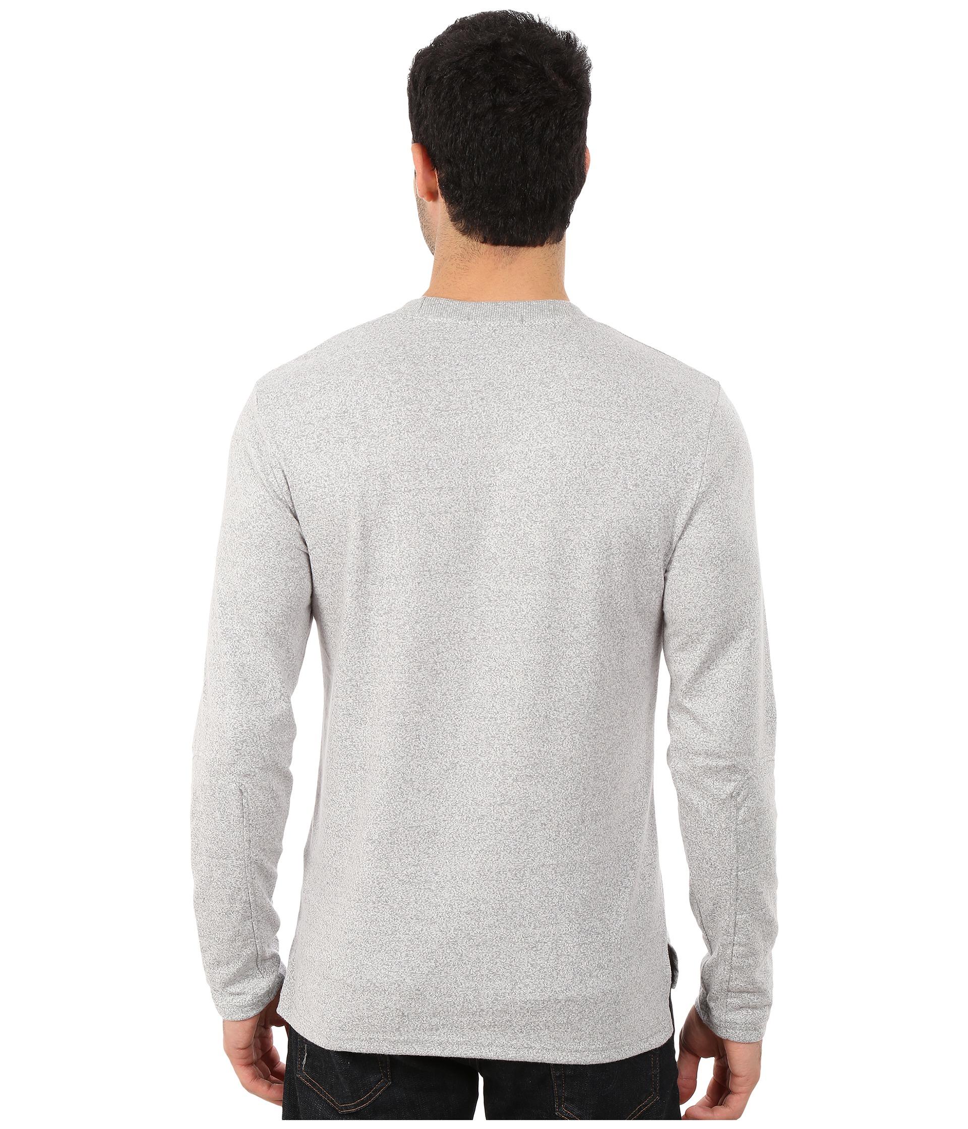 Alternative apparel mock twist away game crew neck in for Mock crew neck shirts