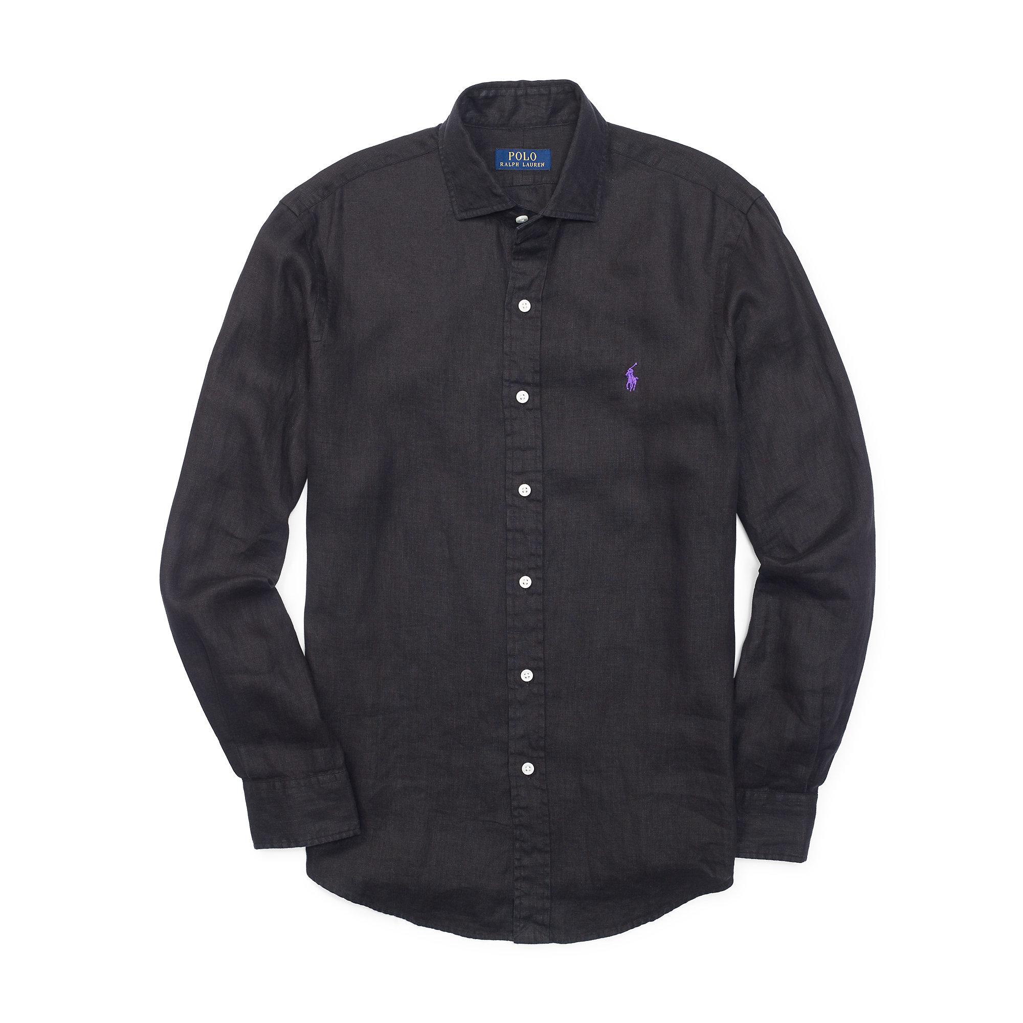 Black Linen Shirt Custom Shirt