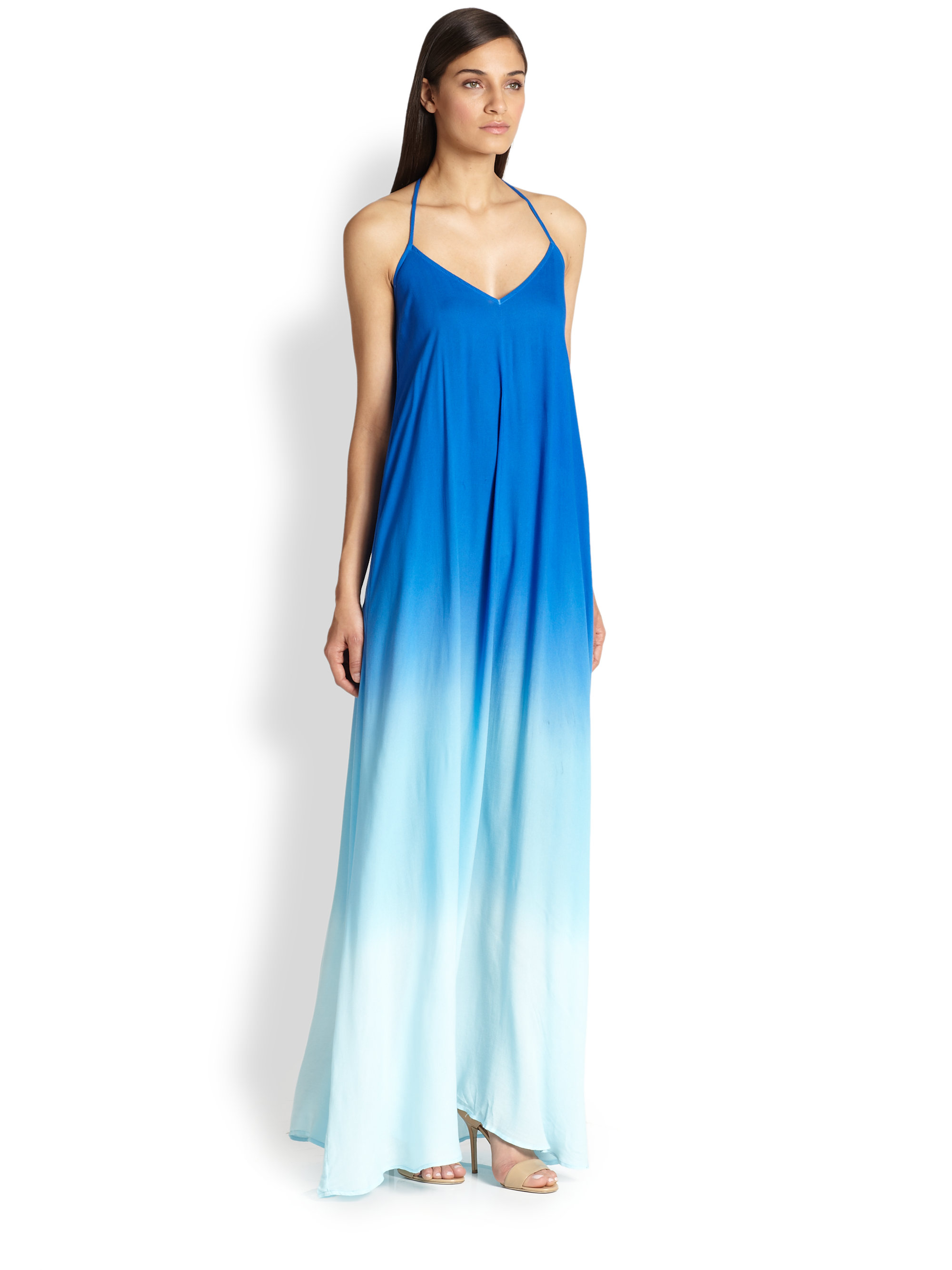 Lyst Young Fabulous Broke Fortine Ombre Trapeze Maxi Dress In Blue