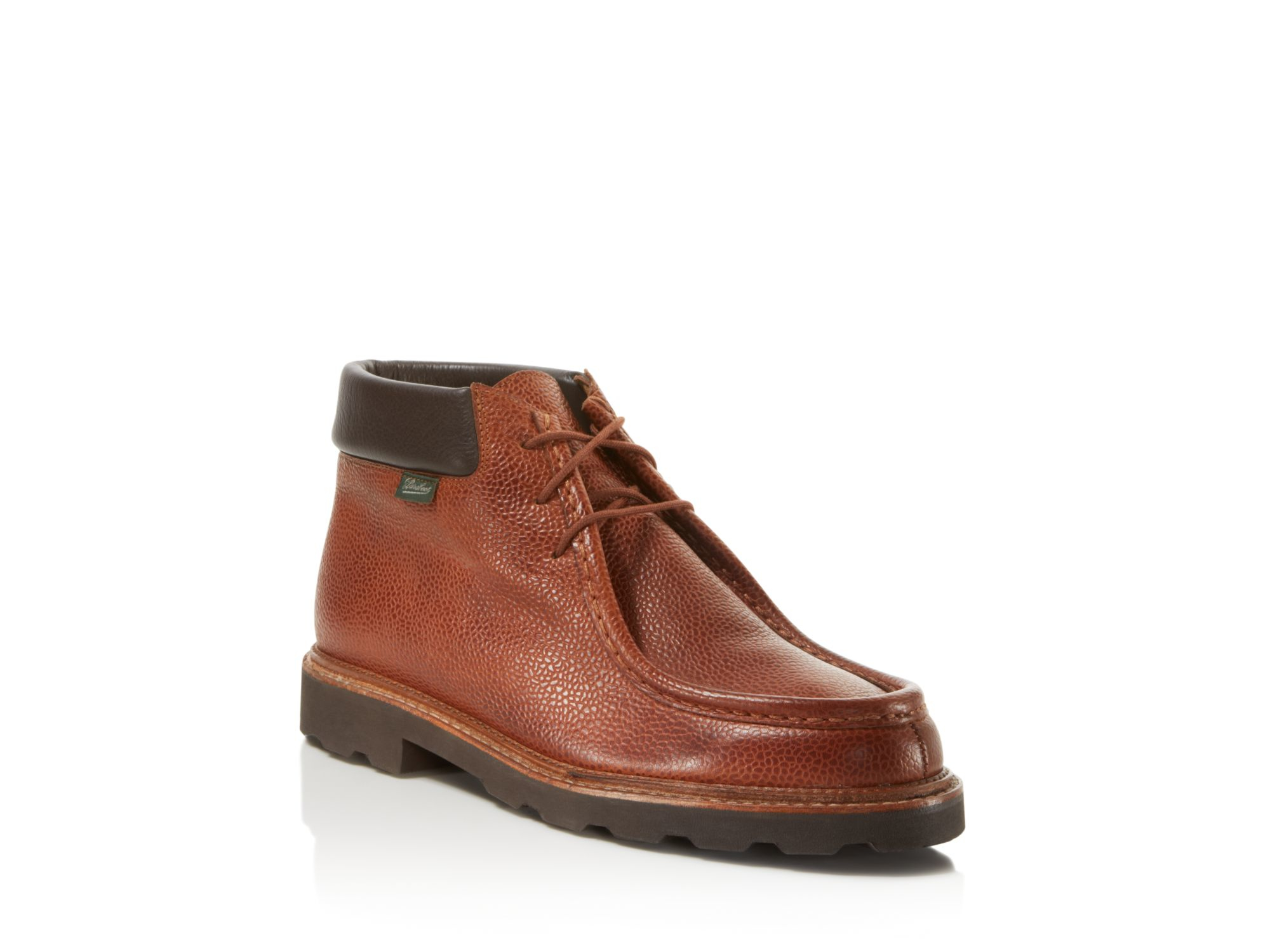 Paraboot Milly Pebbled Leather Wallabee Chukka Boots in Brown for ...
