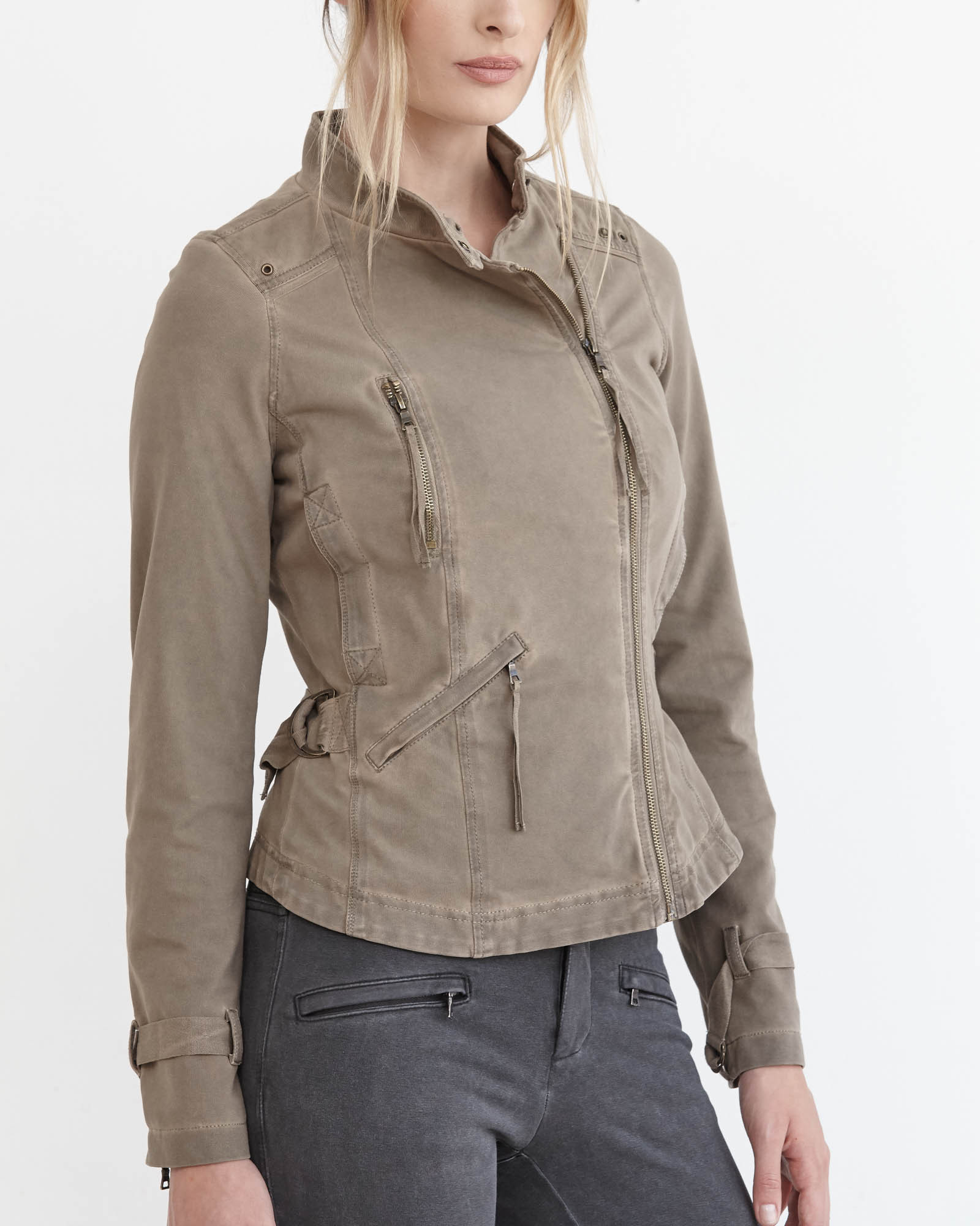 Marrakech Arely Knit Motorcycle Jacket in Gray Lyst