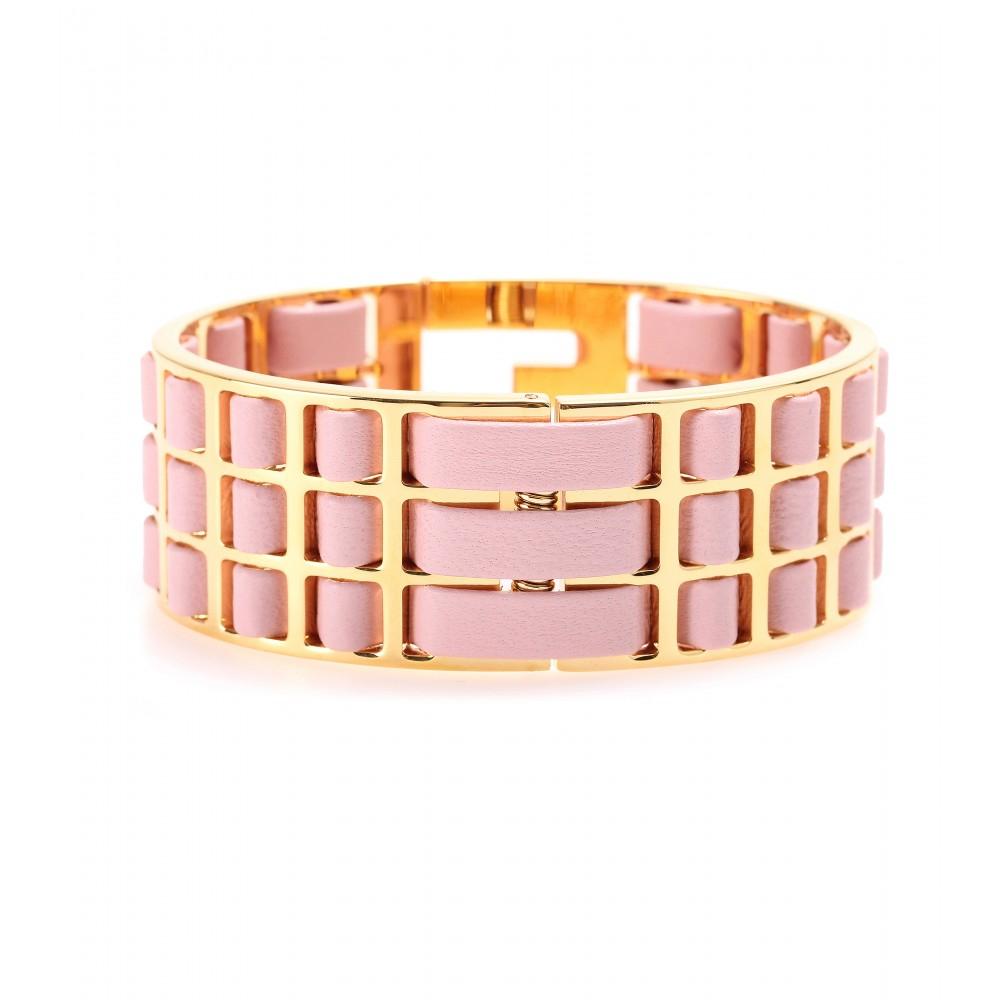 Fendi logo plaque bracelet - Pink & Purple WOGQoWQ