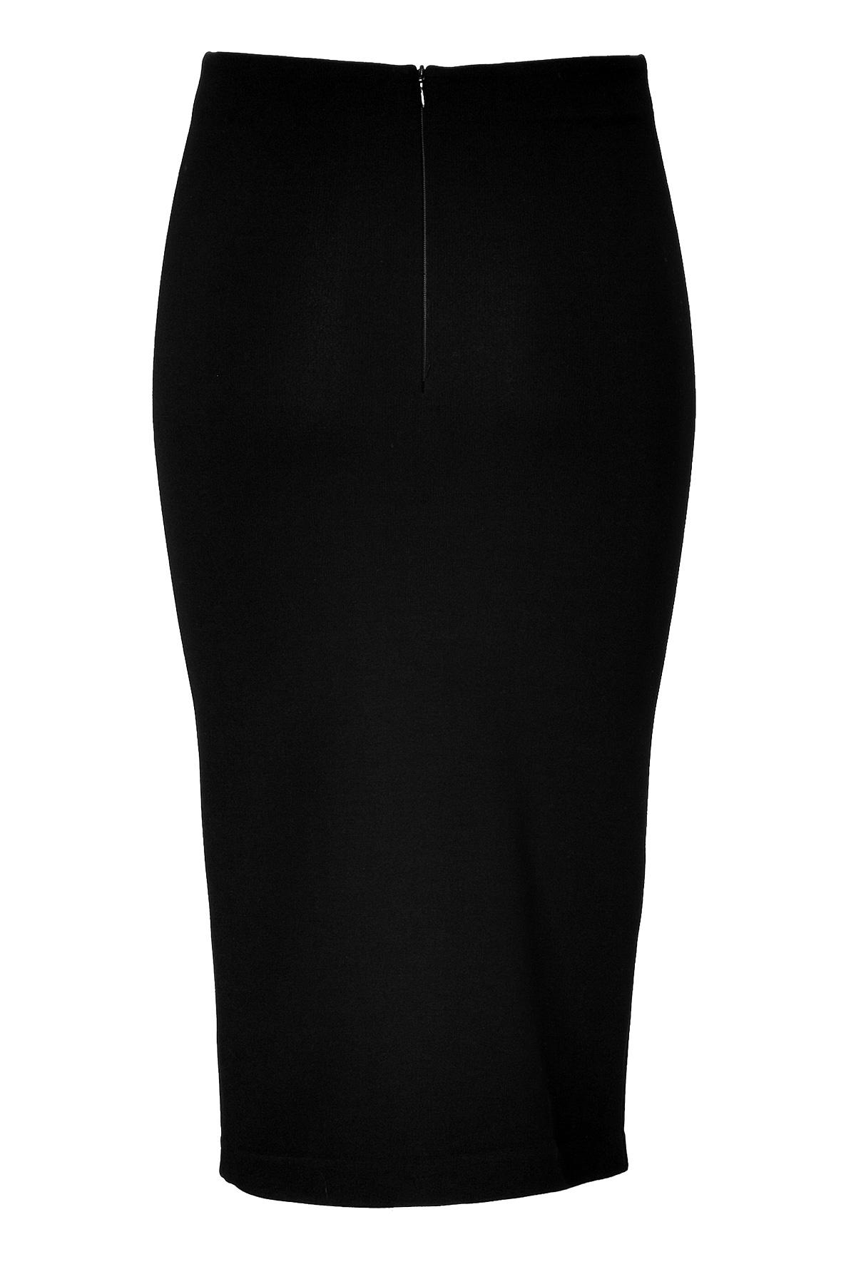 mcq midi length pencil skirt in black lyst