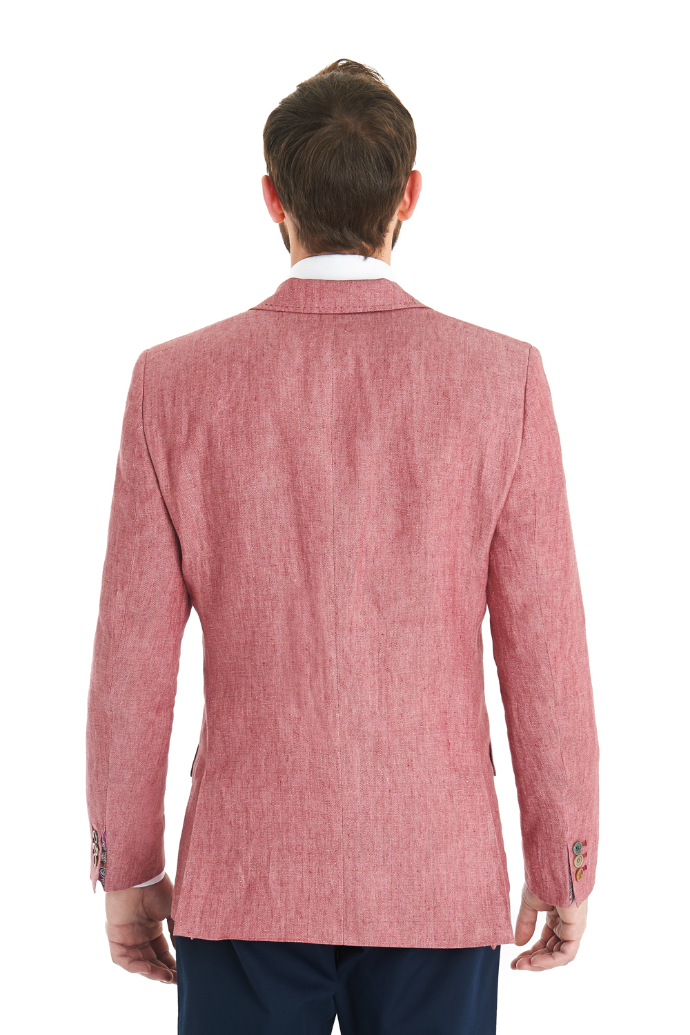 Lyst Ted Baker Tailored Fit Pink Herringbone Linen