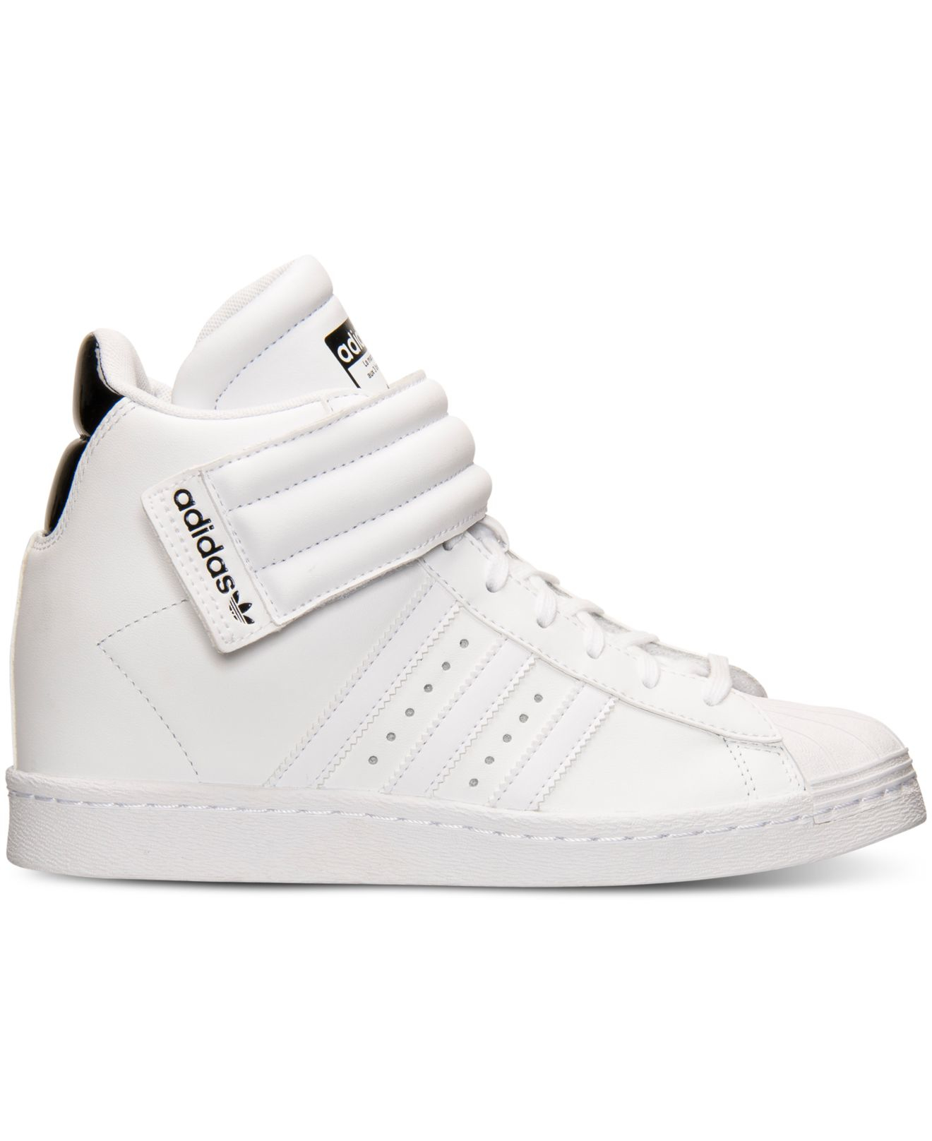 more photos bb202 2d643 Lyst - adidas Originals Womens Superstar Up Strap Casual Sne