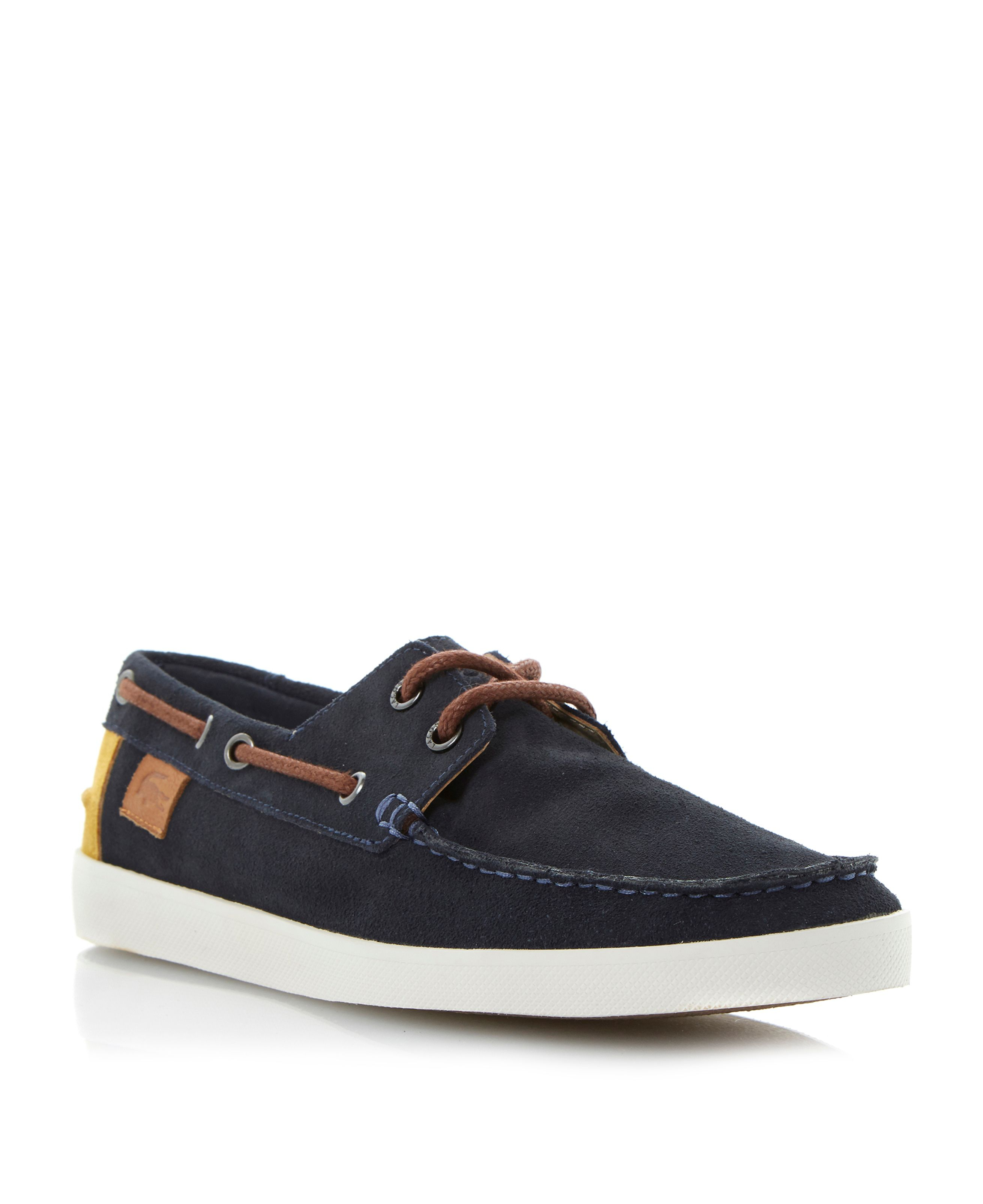 Lacoste Keellson Suede Lace Up Boat Shoes in Blue for Men | Lyst