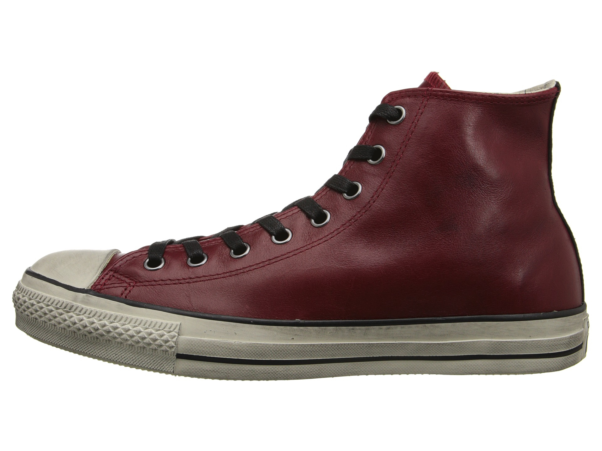 f1e1ad01bfb7 Lyst - Converse Chuck Taylor All Star Burnished Leather in Red