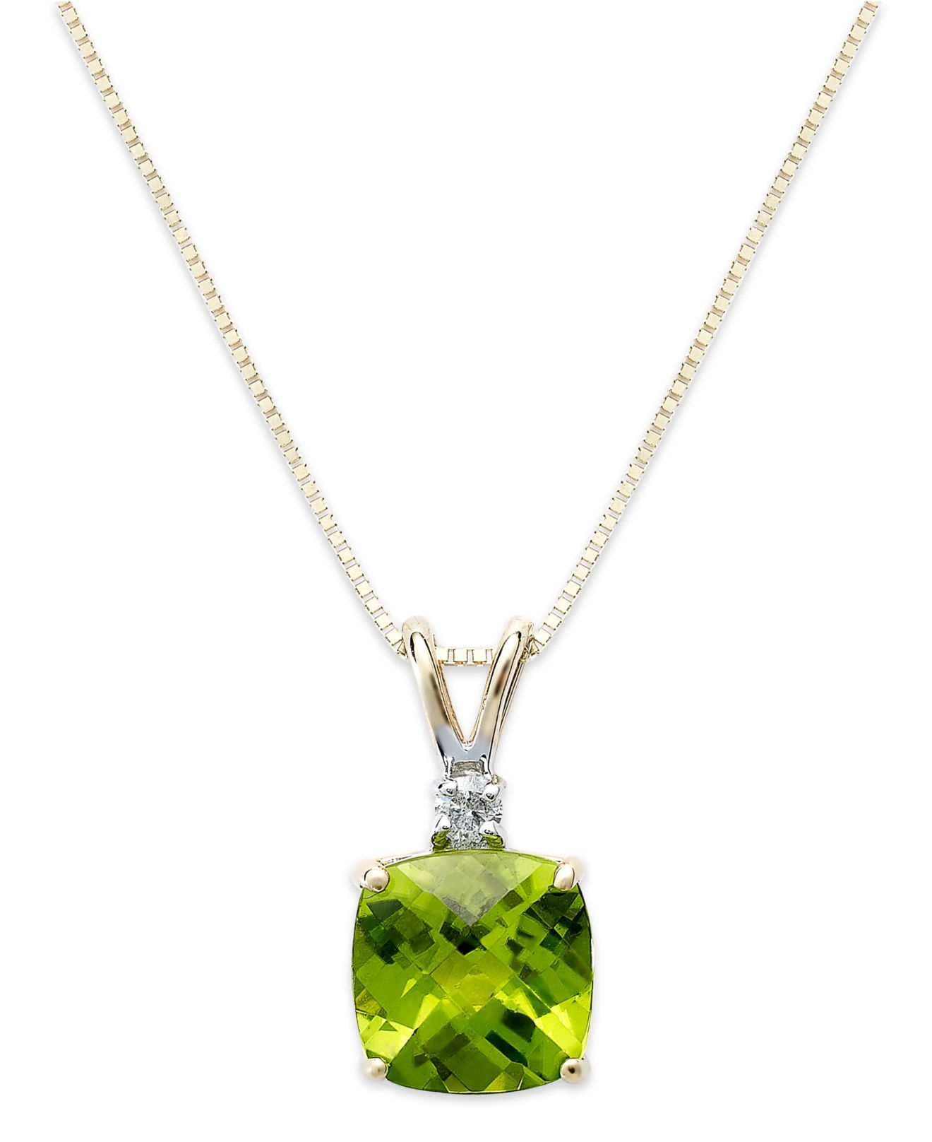 macy s us 14k gold necklace peridot 1 5 8 ct t w and