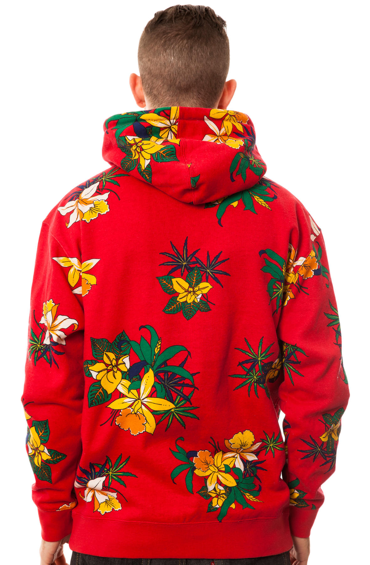 Lyst - Obey The Aloha Pullover Hoodie in Red for Men