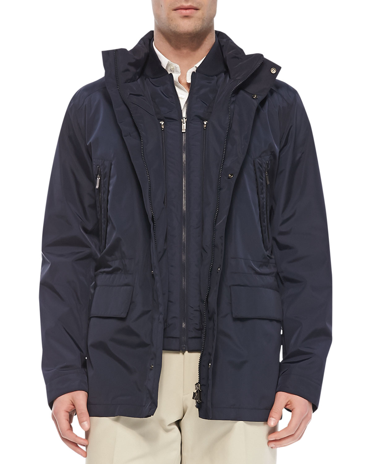 Lyst Ermenegildo Zegna Hydrocompact 3in1 Jacket Navy In