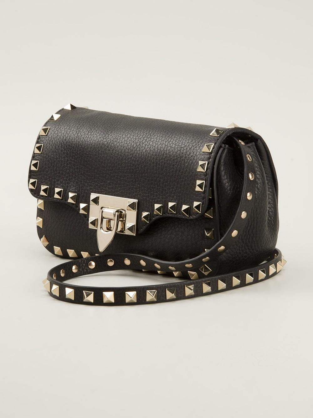 Chloe Black Bag Valentino Rockstud Cross Body Bag in Black | Lyst