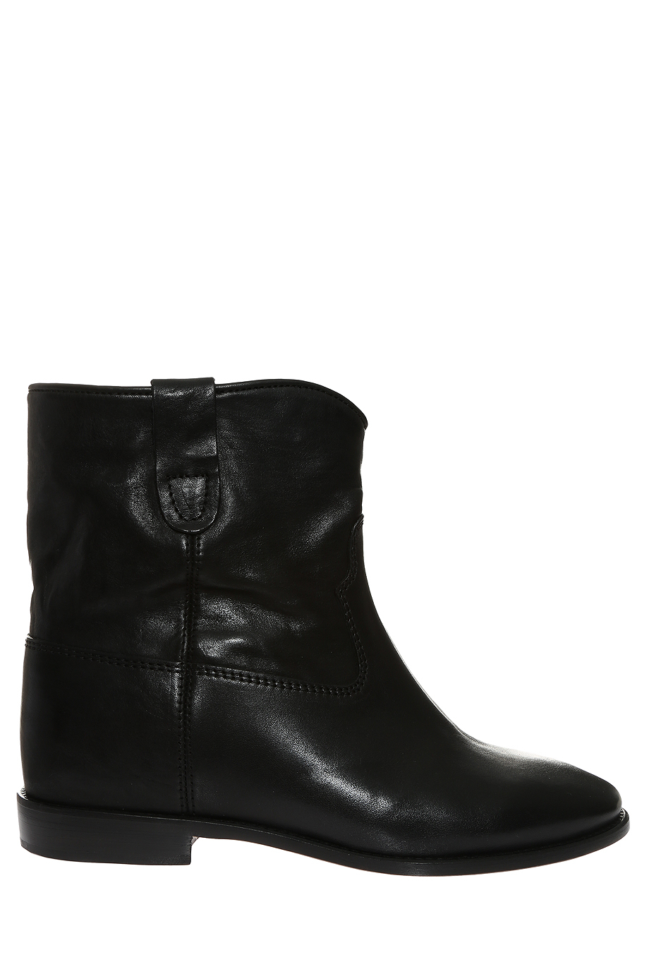 toile isabel marant cluster ankle boots in black lyst. Black Bedroom Furniture Sets. Home Design Ideas