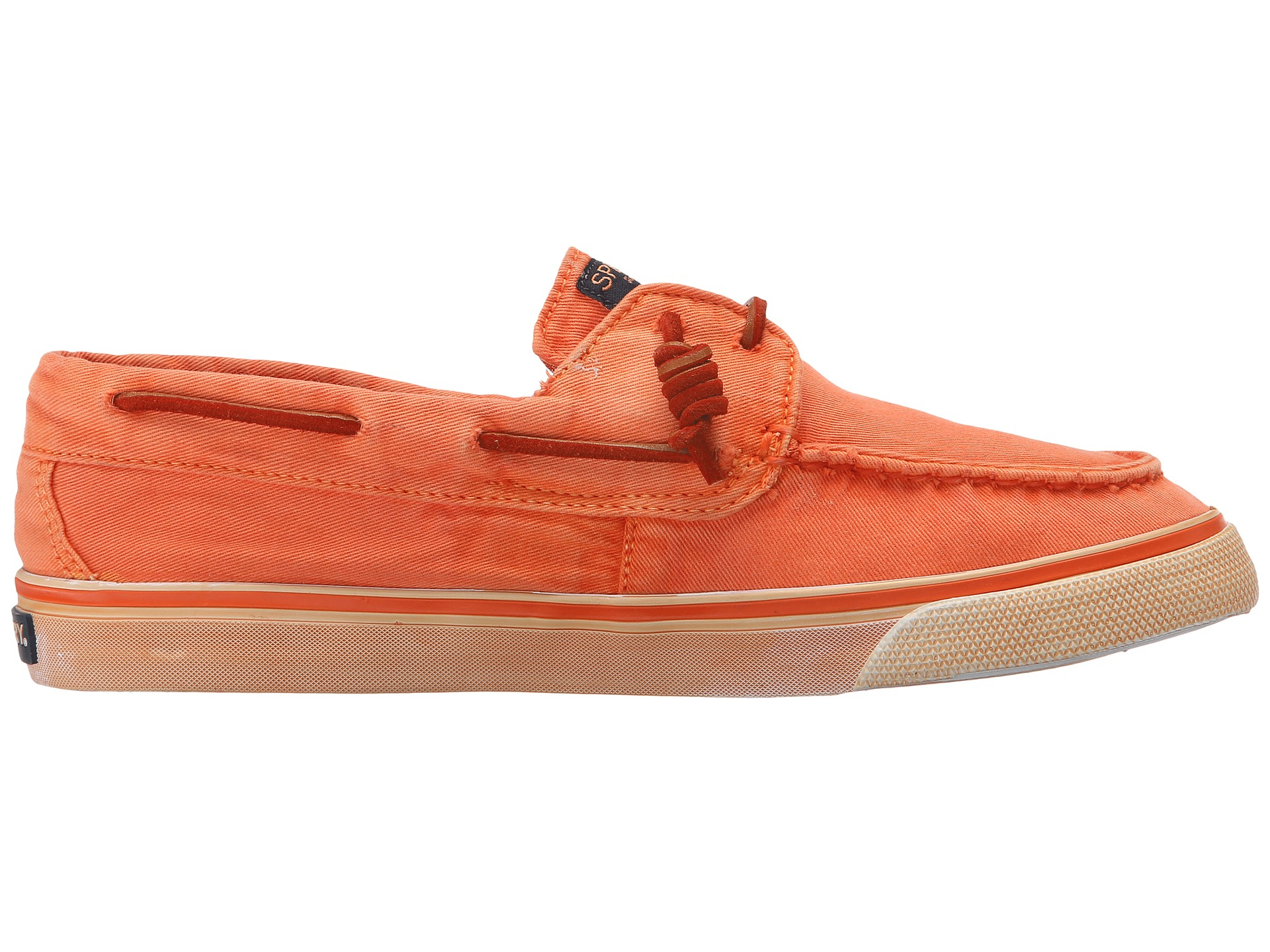 Official site Womens Sperry Top Sider Bahama Washed Boat Shoe Bright Orange Womens Bright Orange Sperry Top Sider Womens Sperry Top Sider