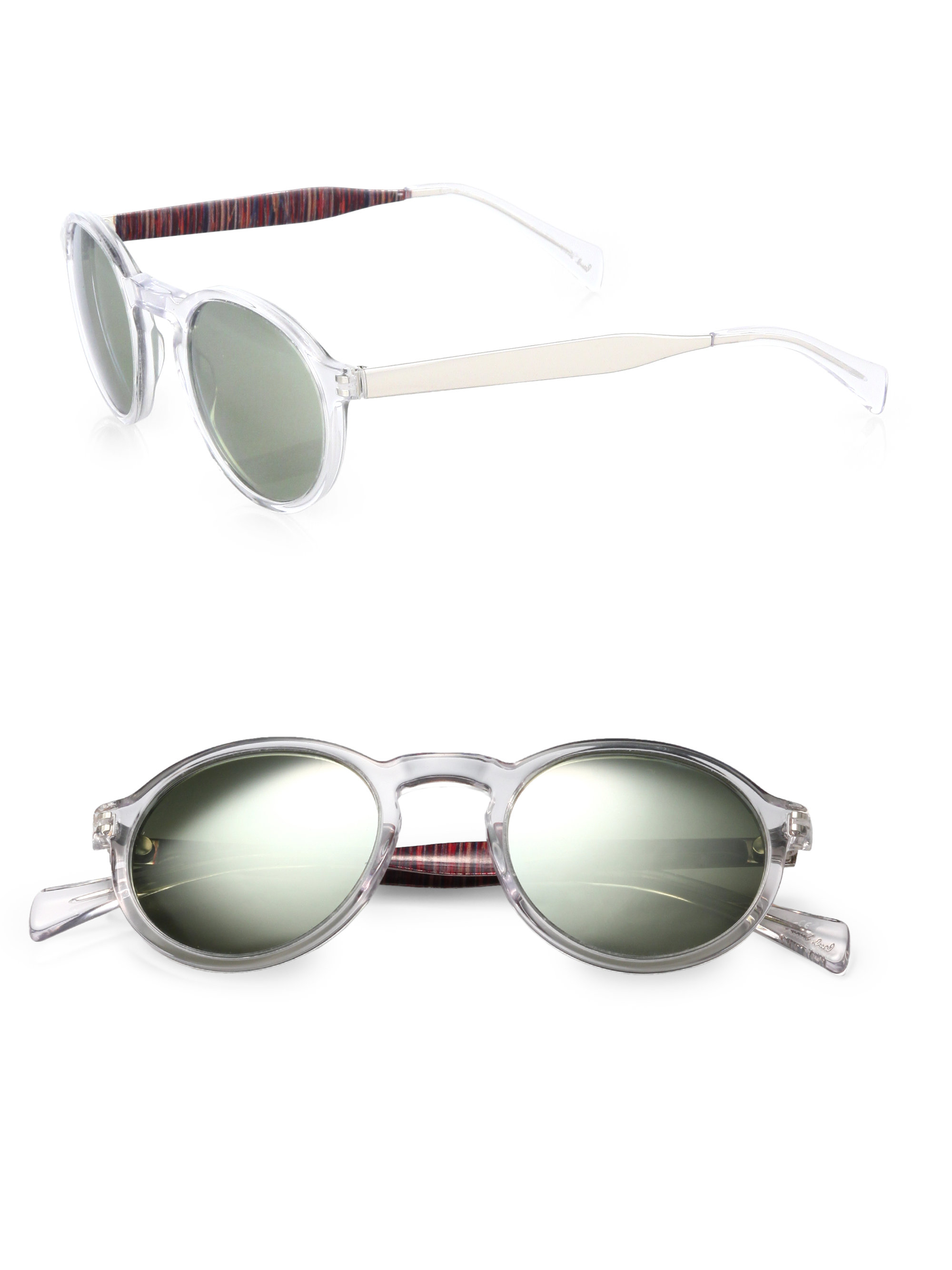 21cfb96166632 Paul Smith Elson Round Sunglasses in Metallic for Men - Lyst