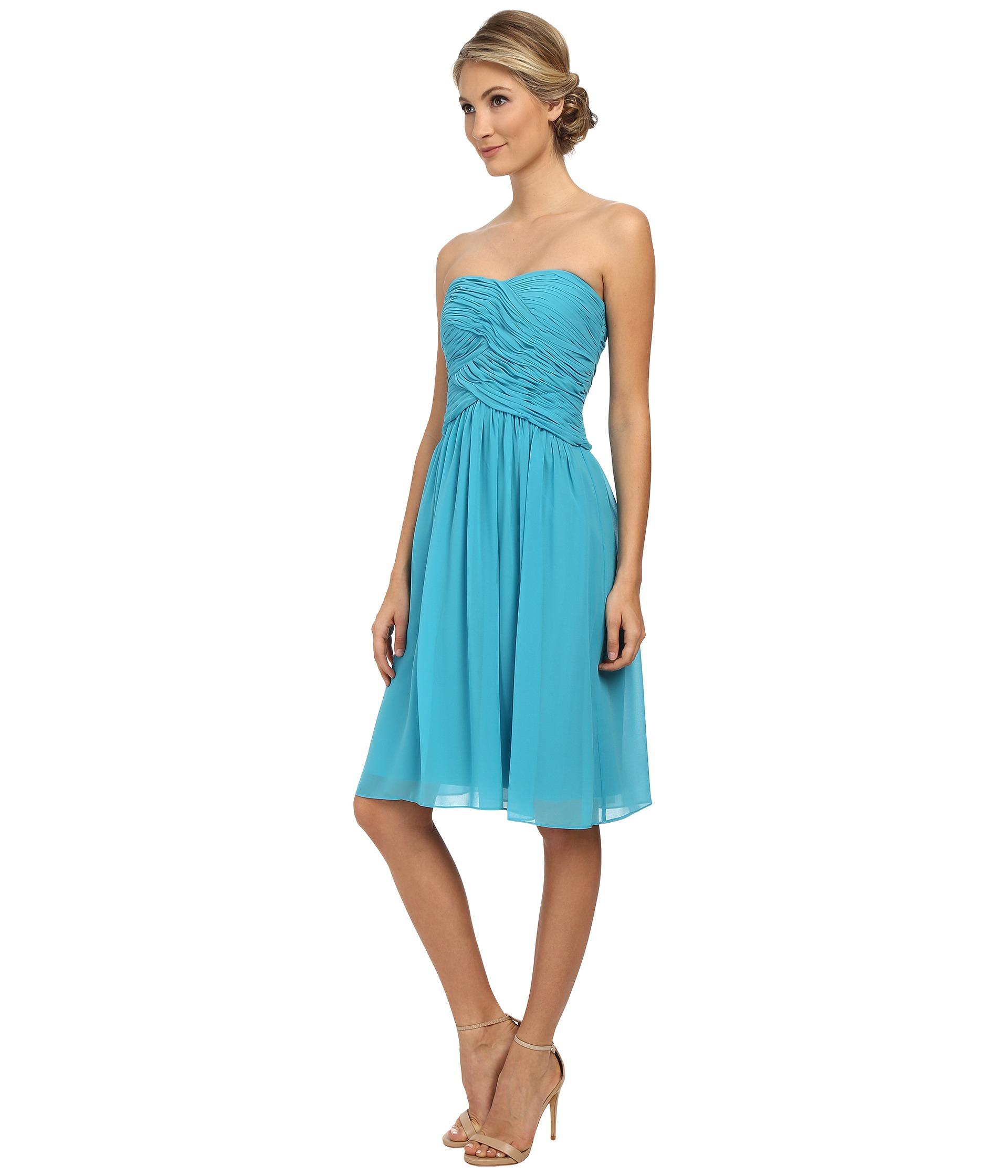 Strapless Short Chiffon Dress
