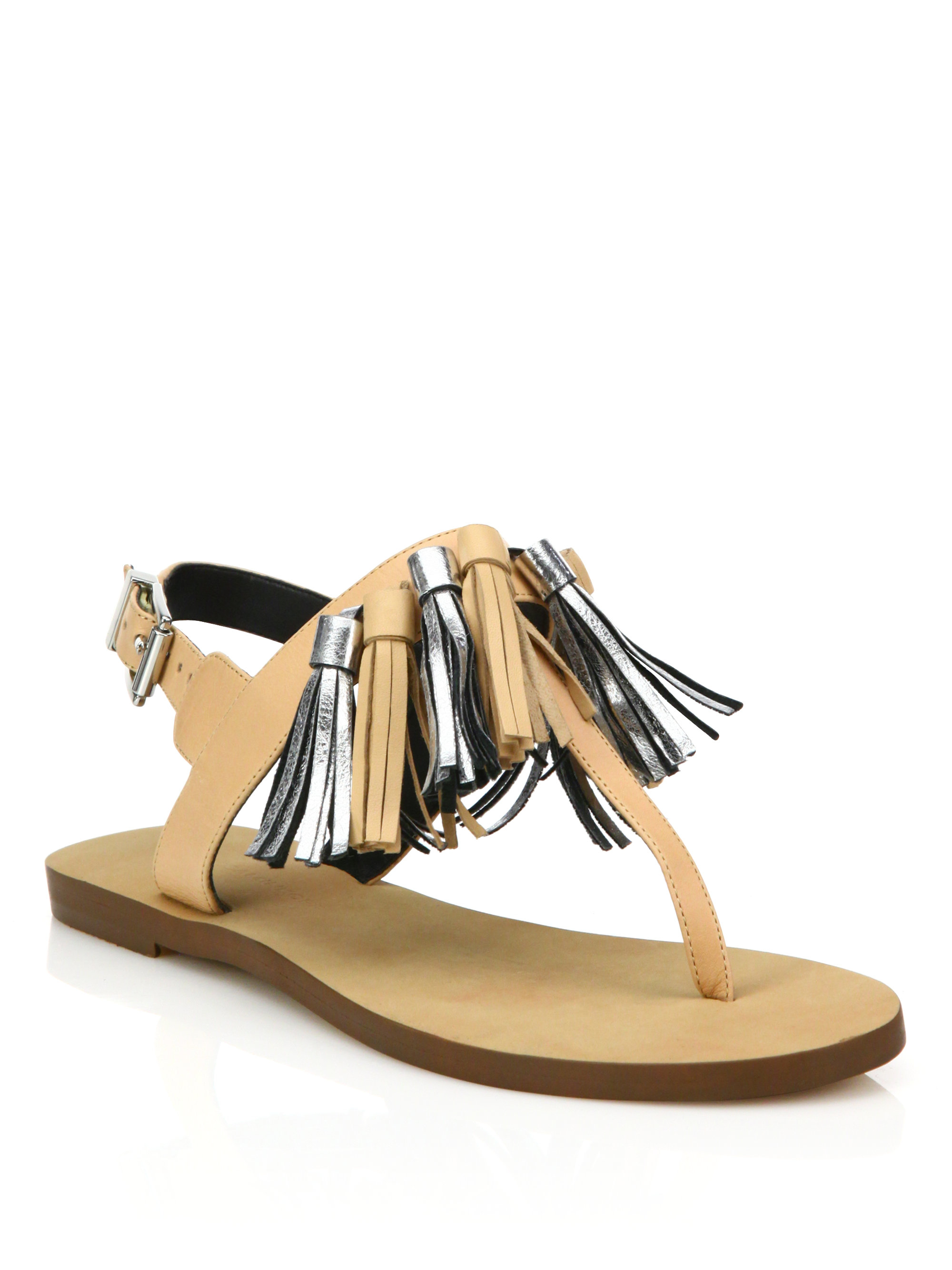 Rebecca Minkoff Leather Fringe Sandals free shipping pictures 1FwdG