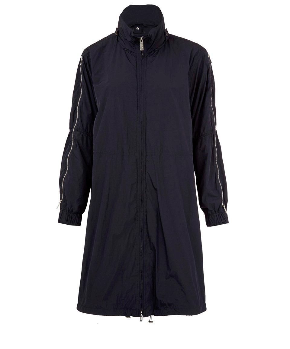 Armani Navy Waterproof Parka Jacket in Blue for Men | Lyst