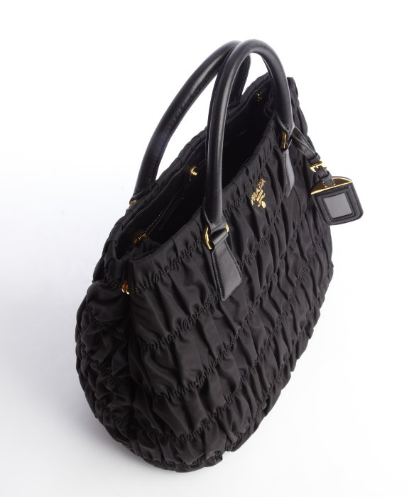 prada leather-accented tote